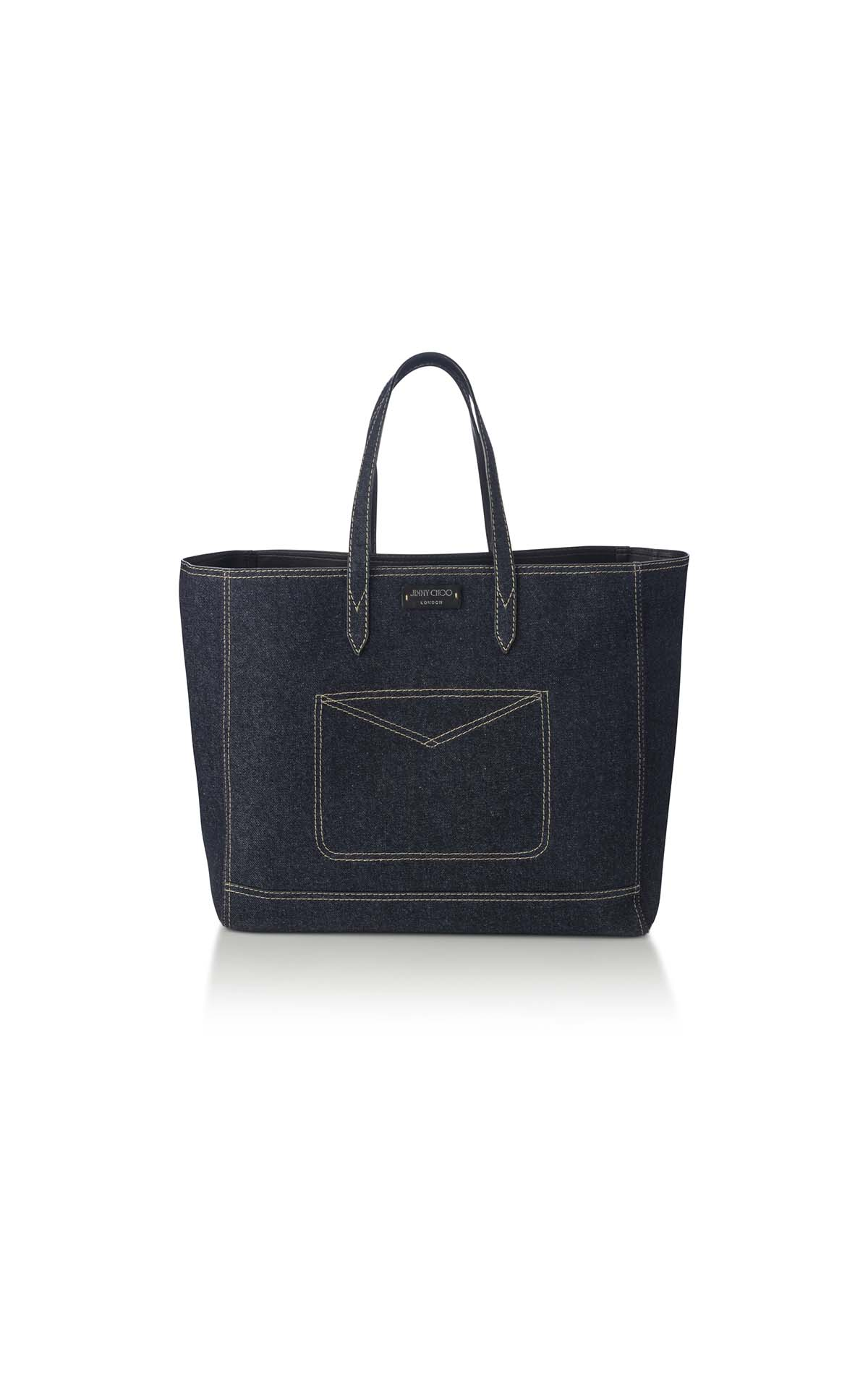 Jimmy Choo Tafira Denim Tote bag at The Bicester Village Shopping Collection