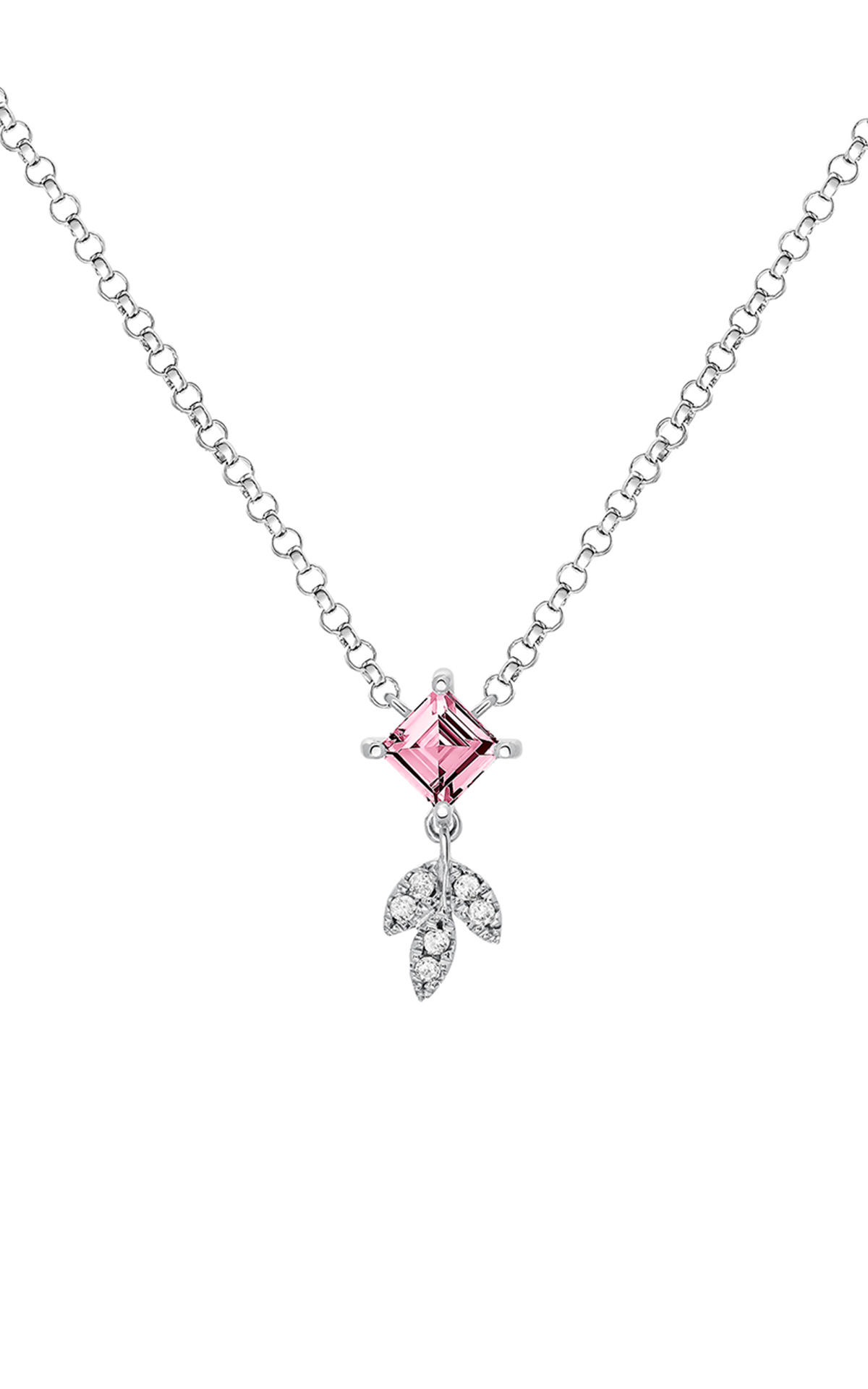Necklace with a pink stone Aristocrazy