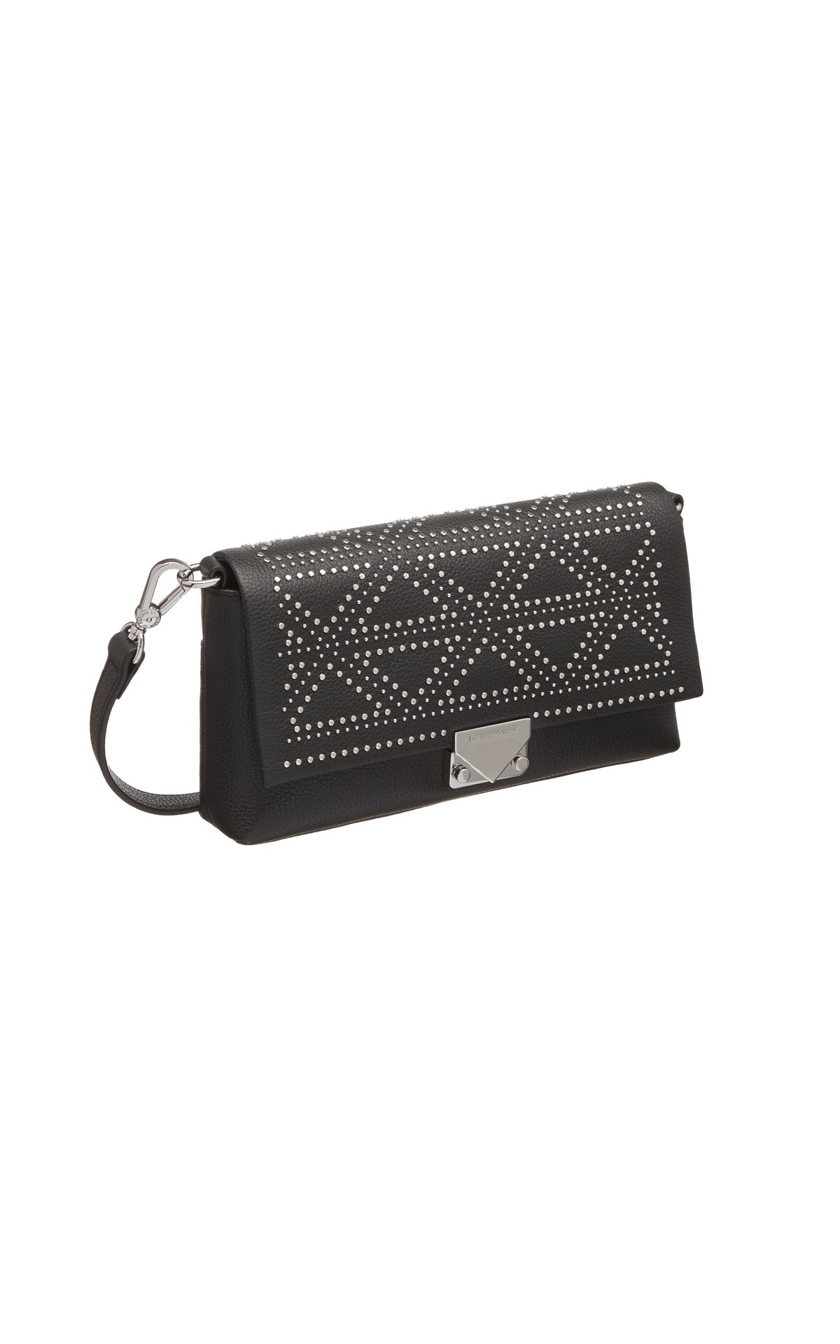 Black bag with studs Armani