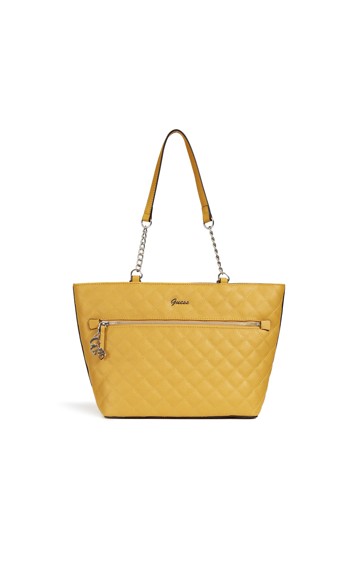 Yellow tote bag Guess