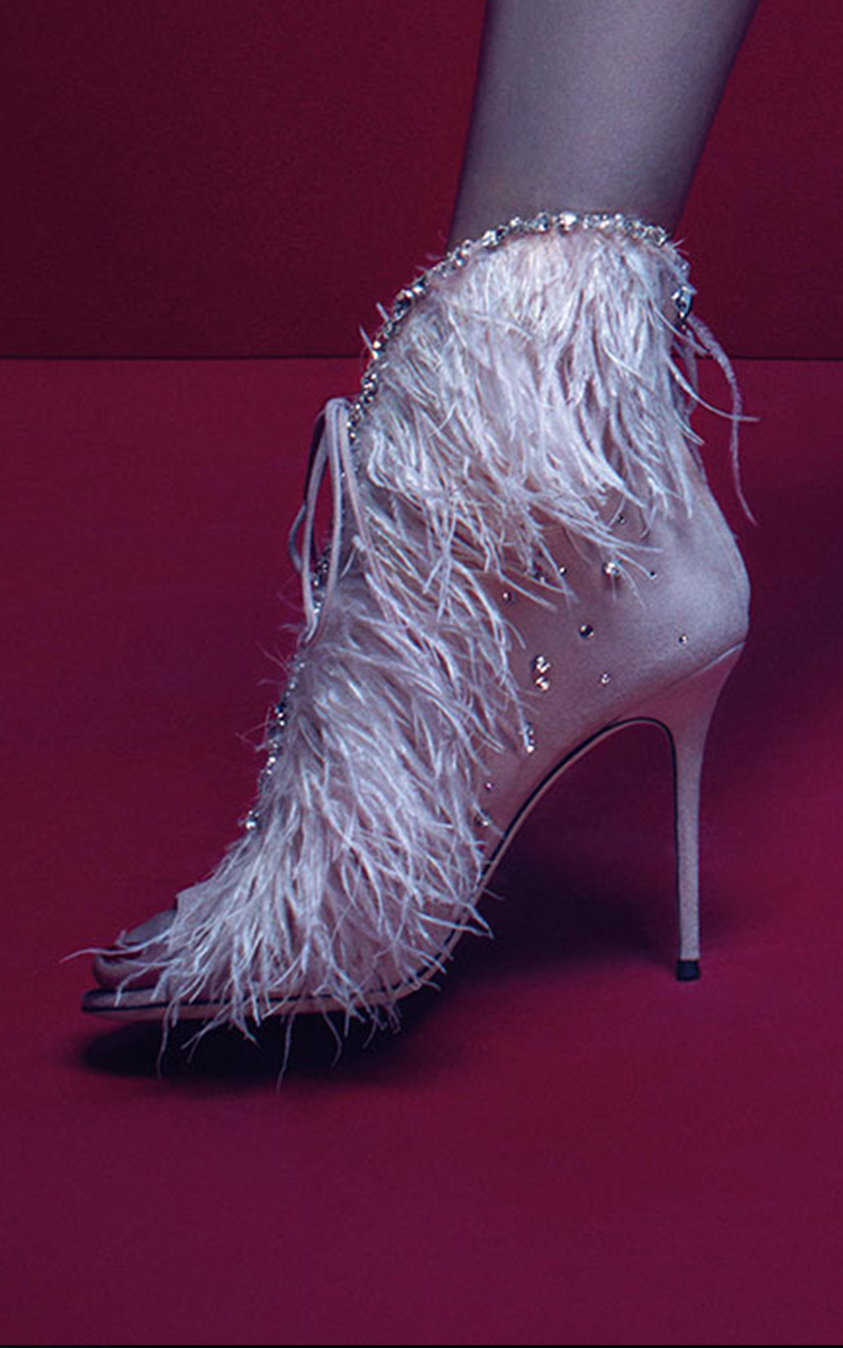 Feather high heels Giuseppe Zanotti