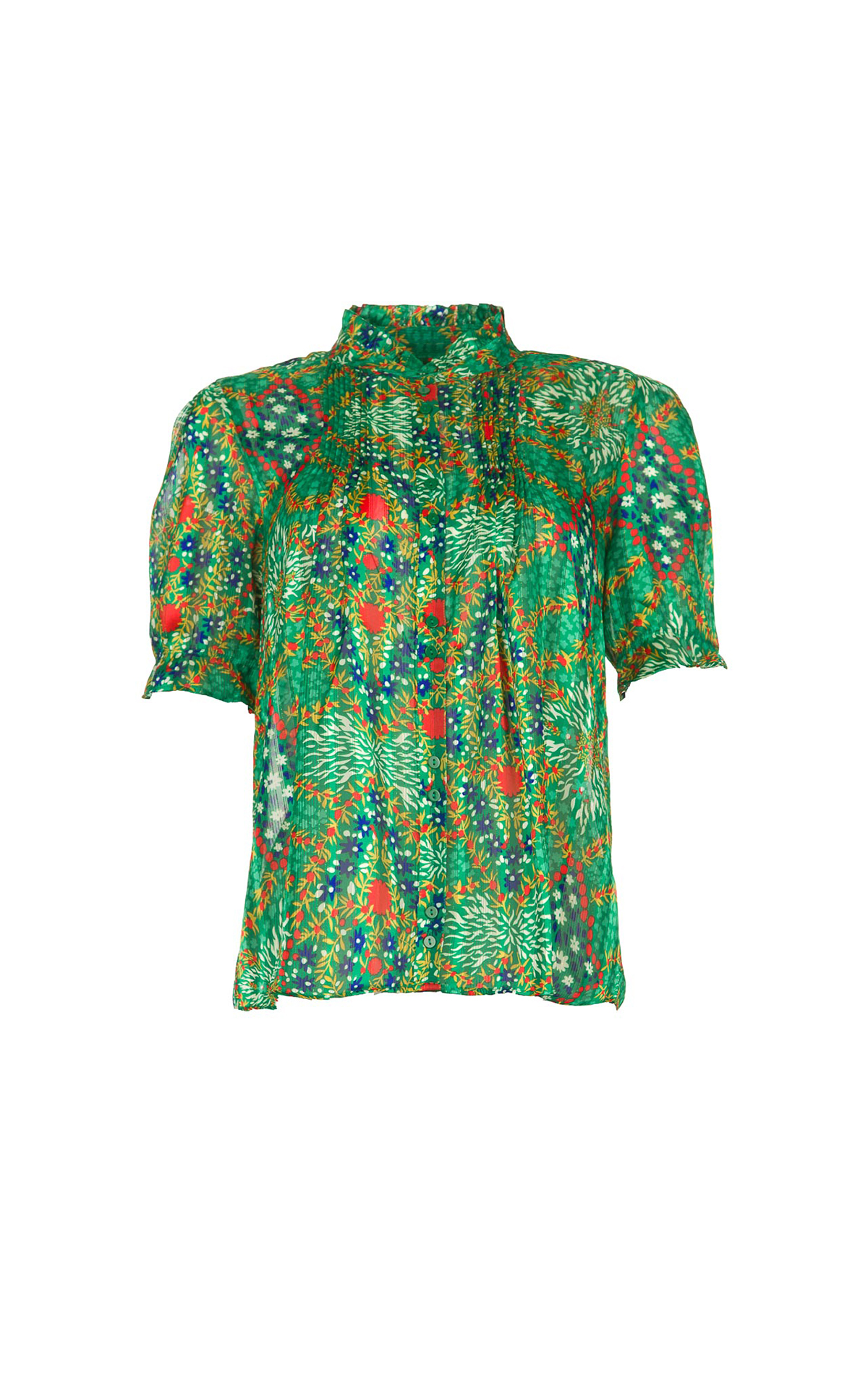 Green printed blouse ba&sh