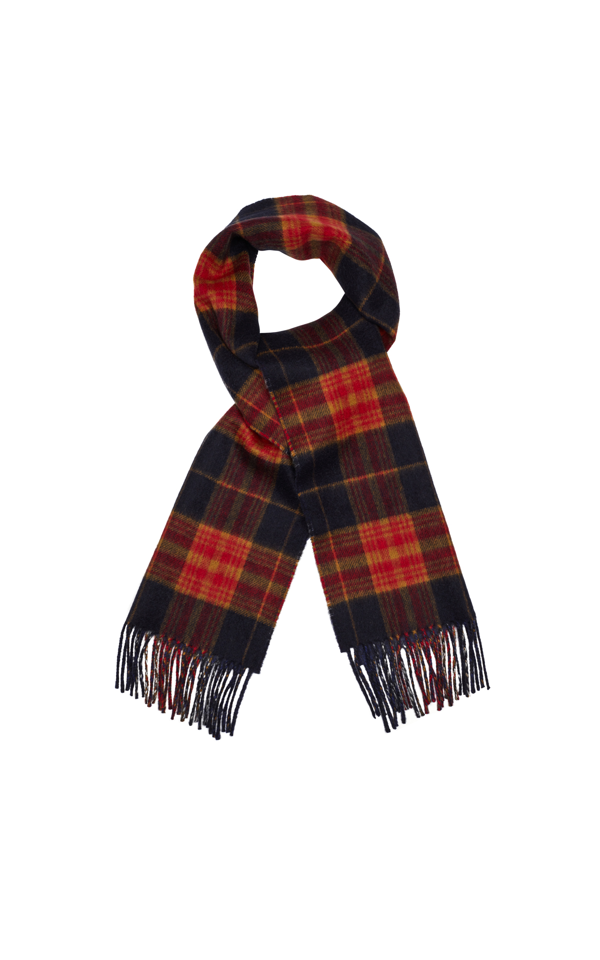 Dunhill  Red double face check scarf from Bicester Village