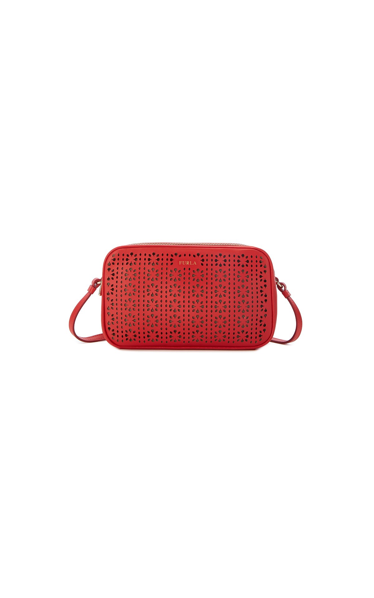 Furla Lilli XL Crossbody pouch in red at The Bicester Village Shoppnig Collection
