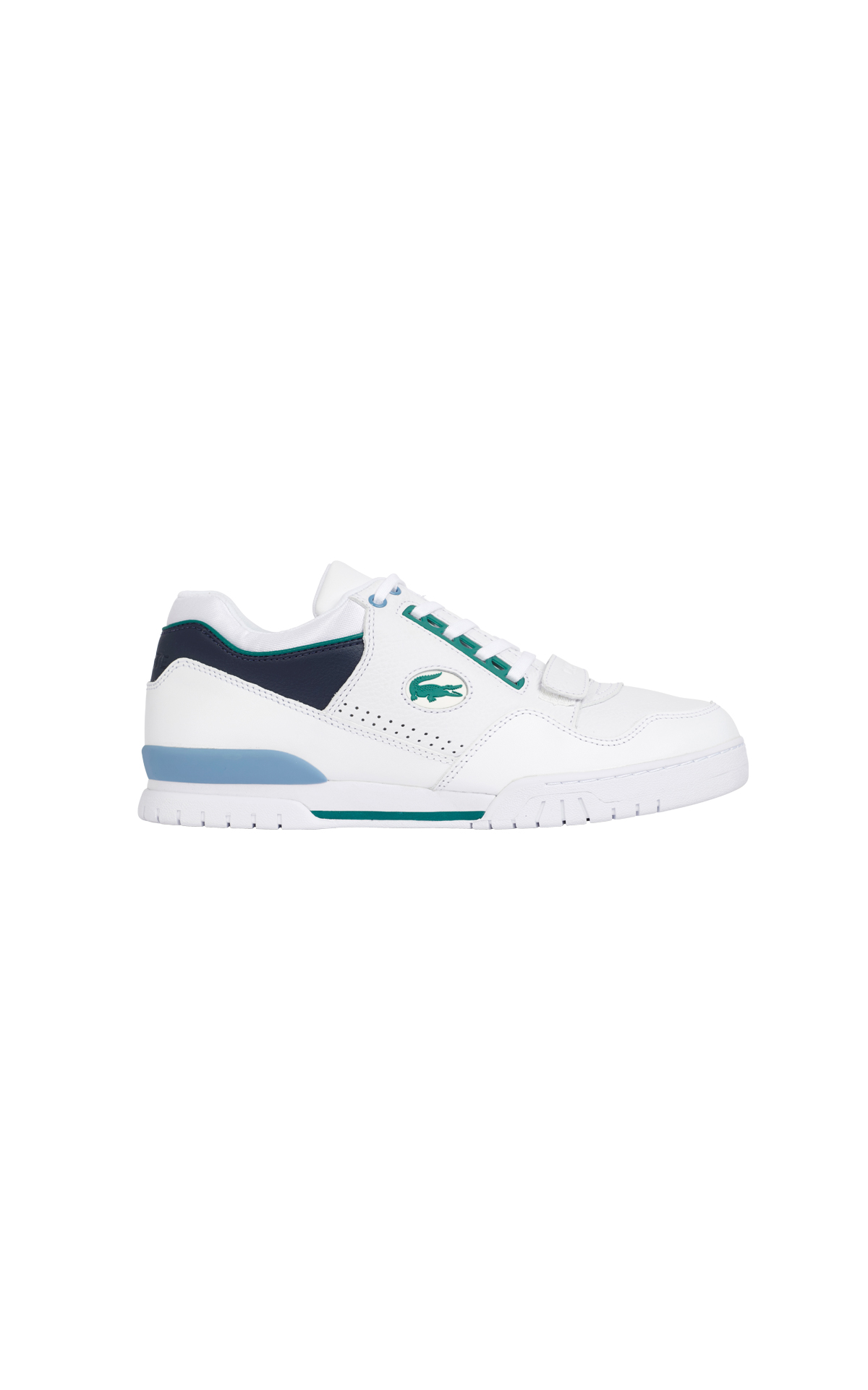 White and blue sneaker for man Lacoste