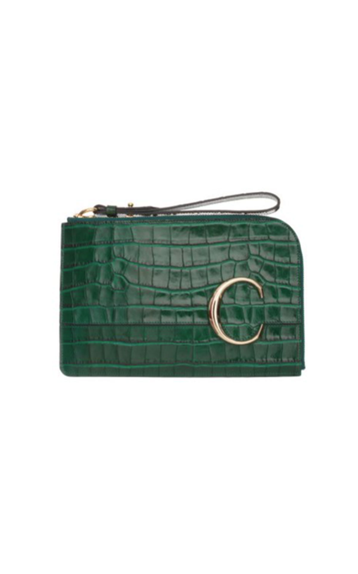 Chloe C pouch woody green from Bicester Village