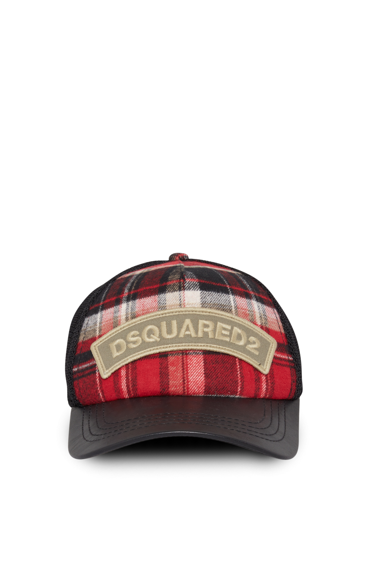 DSQUARED2 Black and red tartan cap