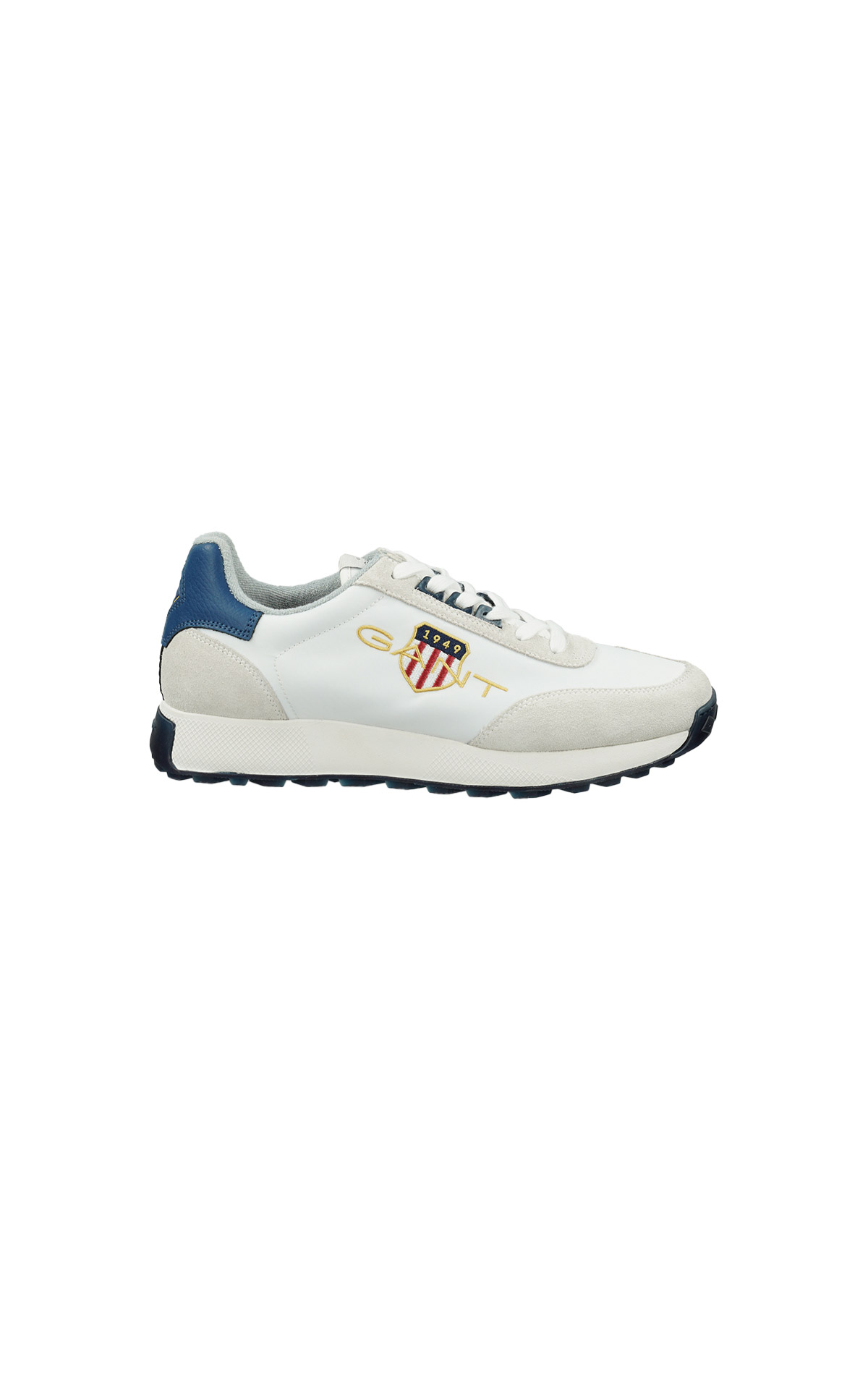 White and Blue Garold sneaker Gant