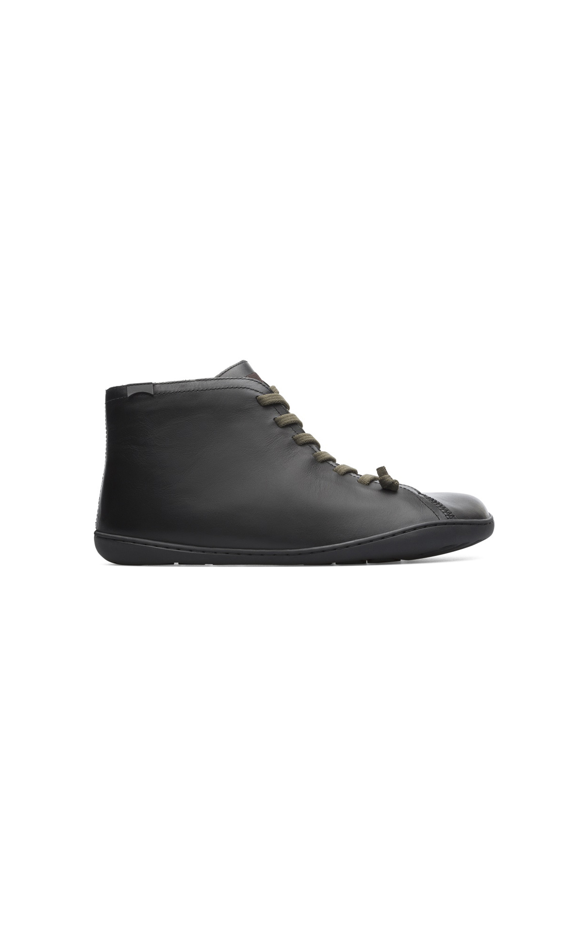 Black leather sneakers man Camper