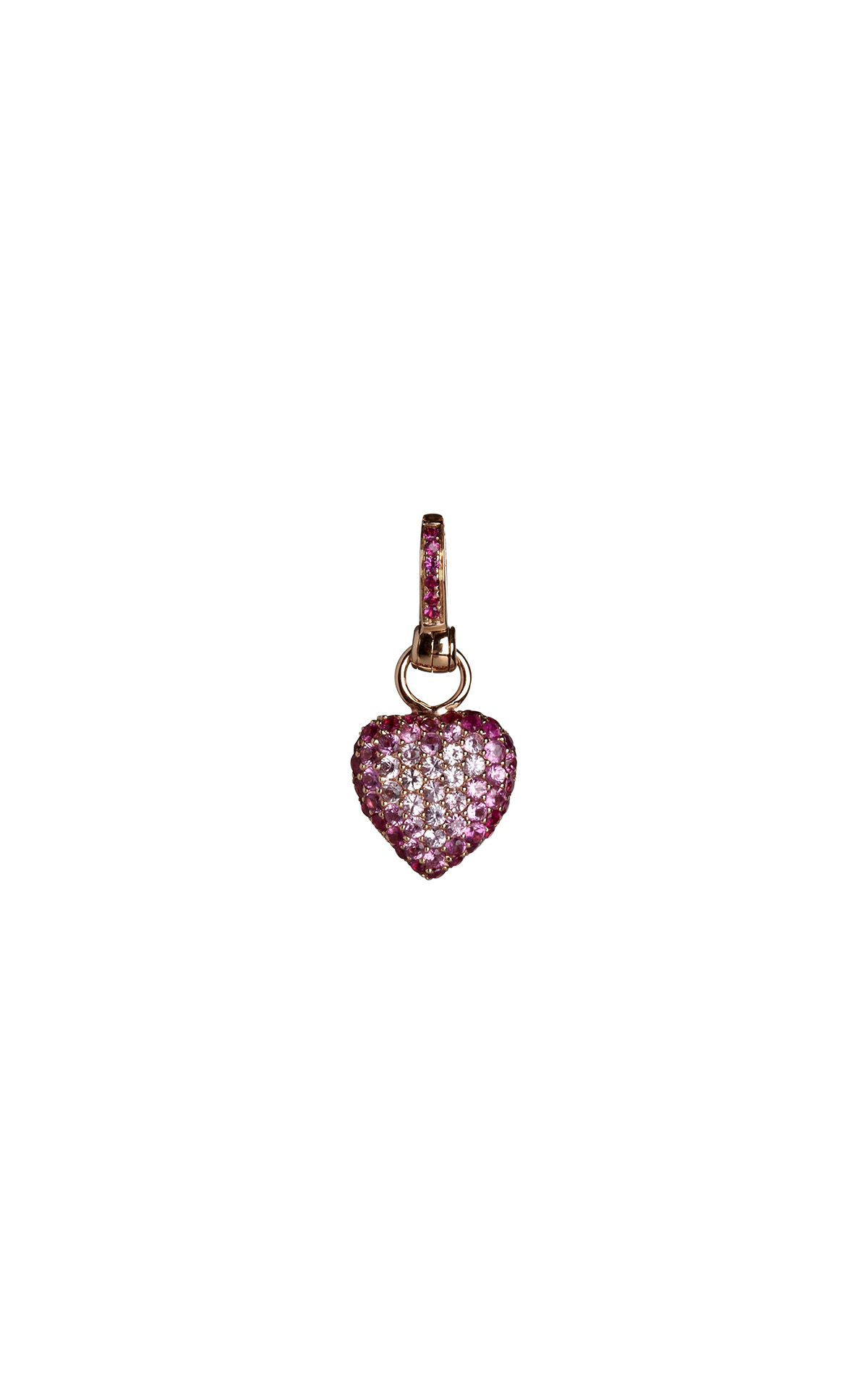 Annoushka Pink sapphire heart charm from Bicester Village
