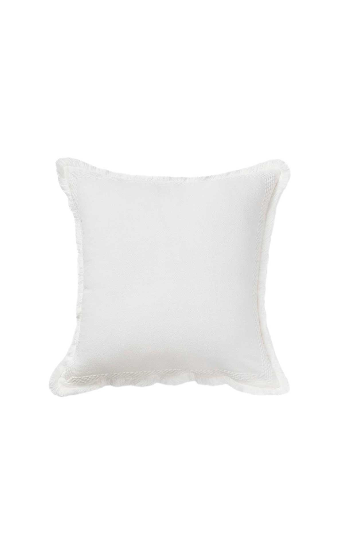 White cushion cover Textura