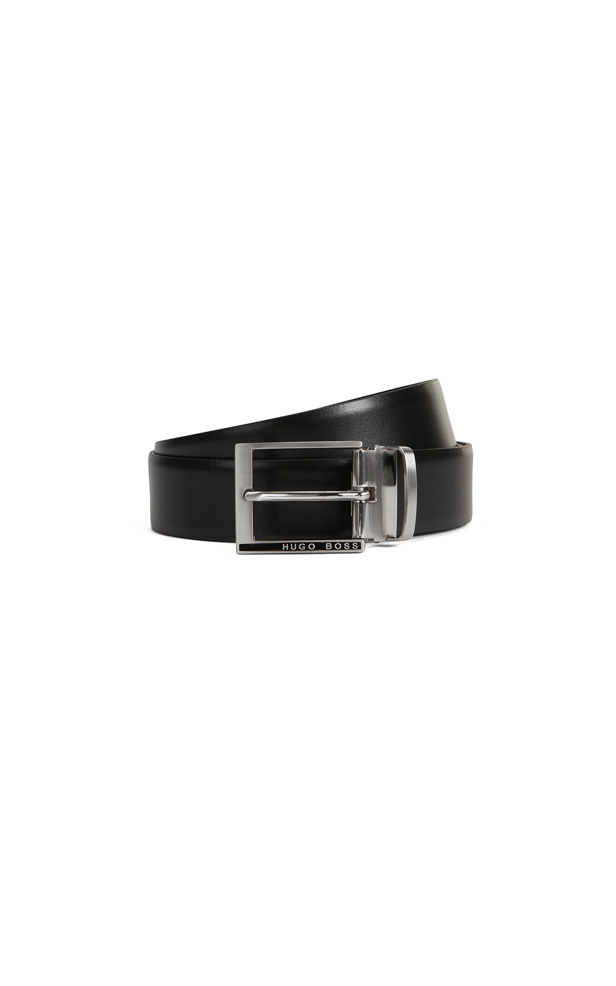 BOSS Reversible belt in smooth leather