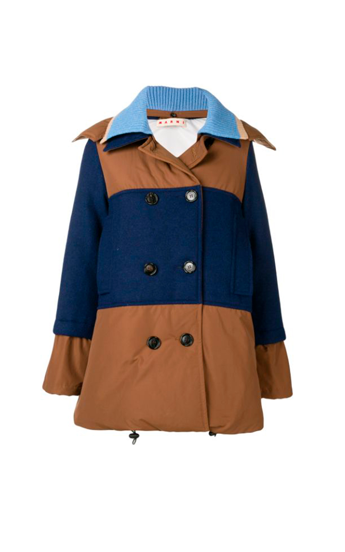 Camel and blue puffer jacket Marni