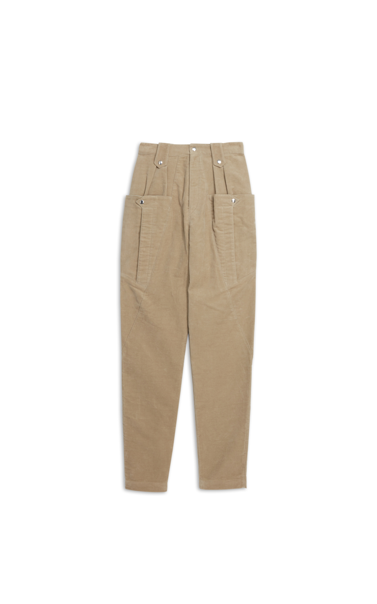 Isabel Marant beige suede trousers with pockets la vallée village
