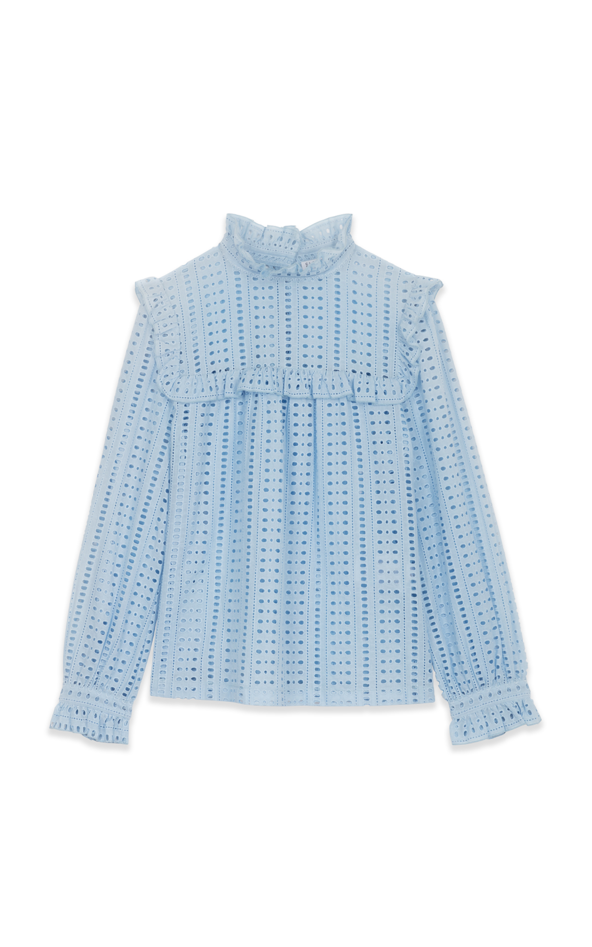 La Vallée Village Claudie Pierlot blue blouse