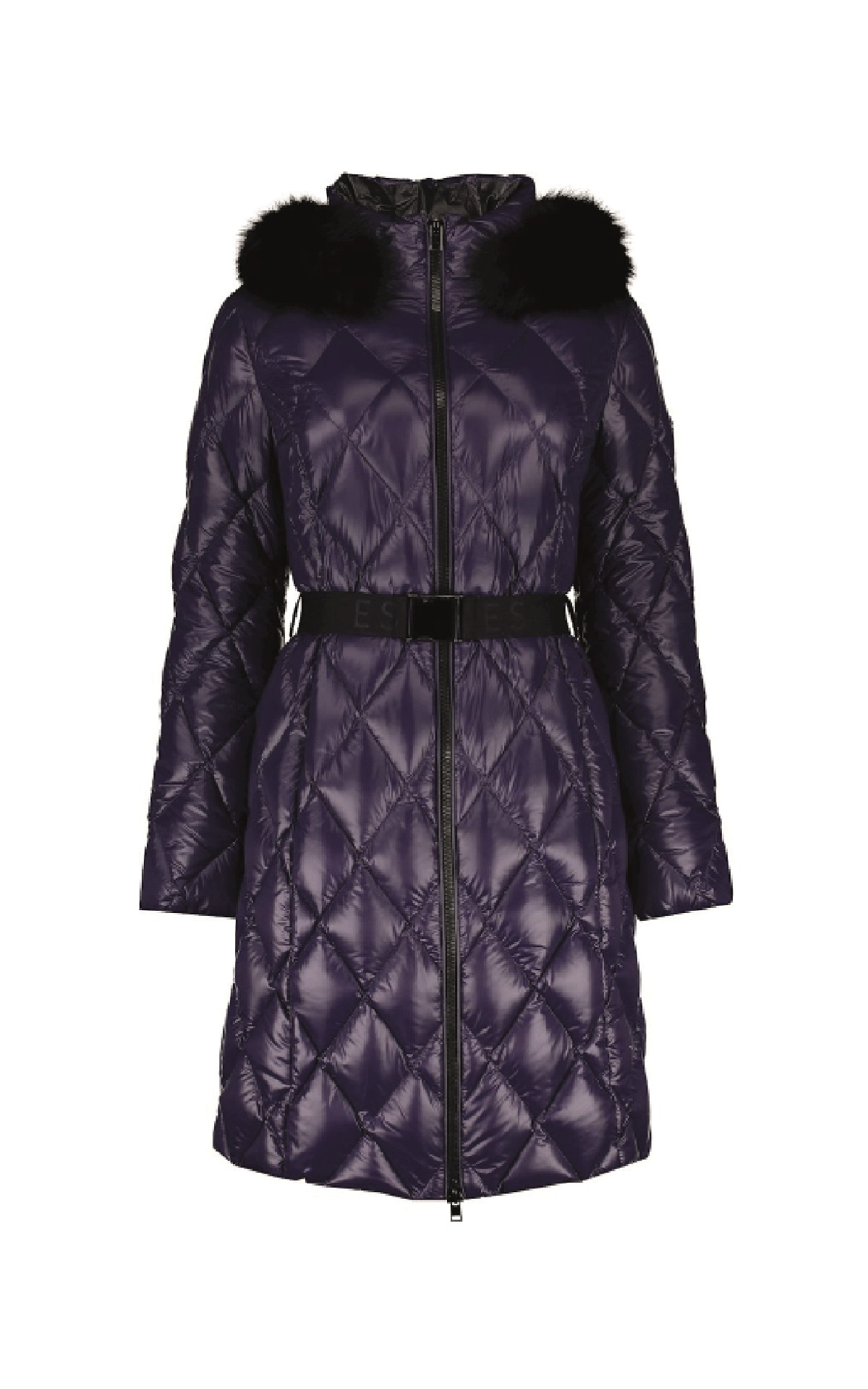 Lilac parka with belt Escada