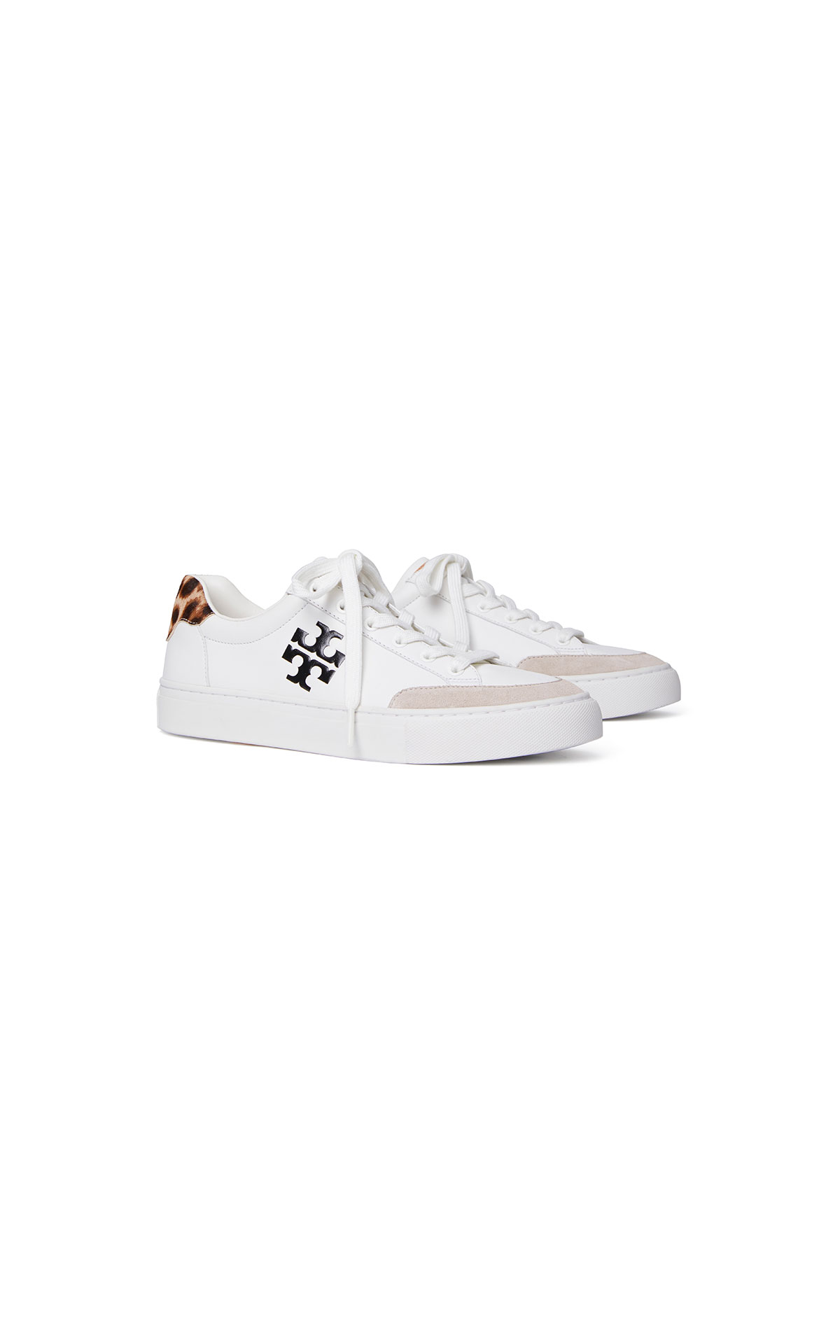 Tory Burch Andrea color block court sneaker in snow white at The Bicester Village Shopping Collection