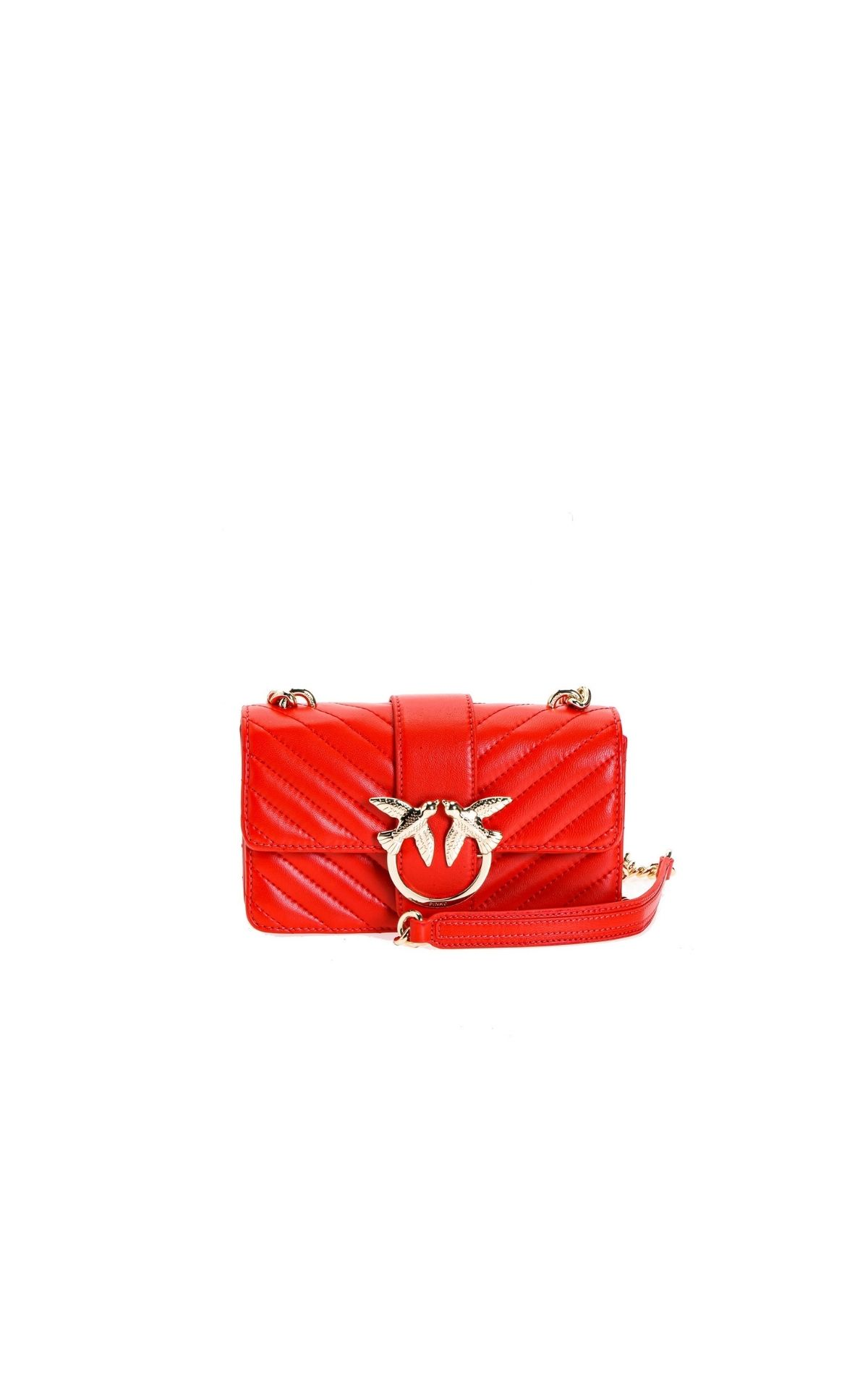 Pinko Red quilted Love bag | La Vallée Village