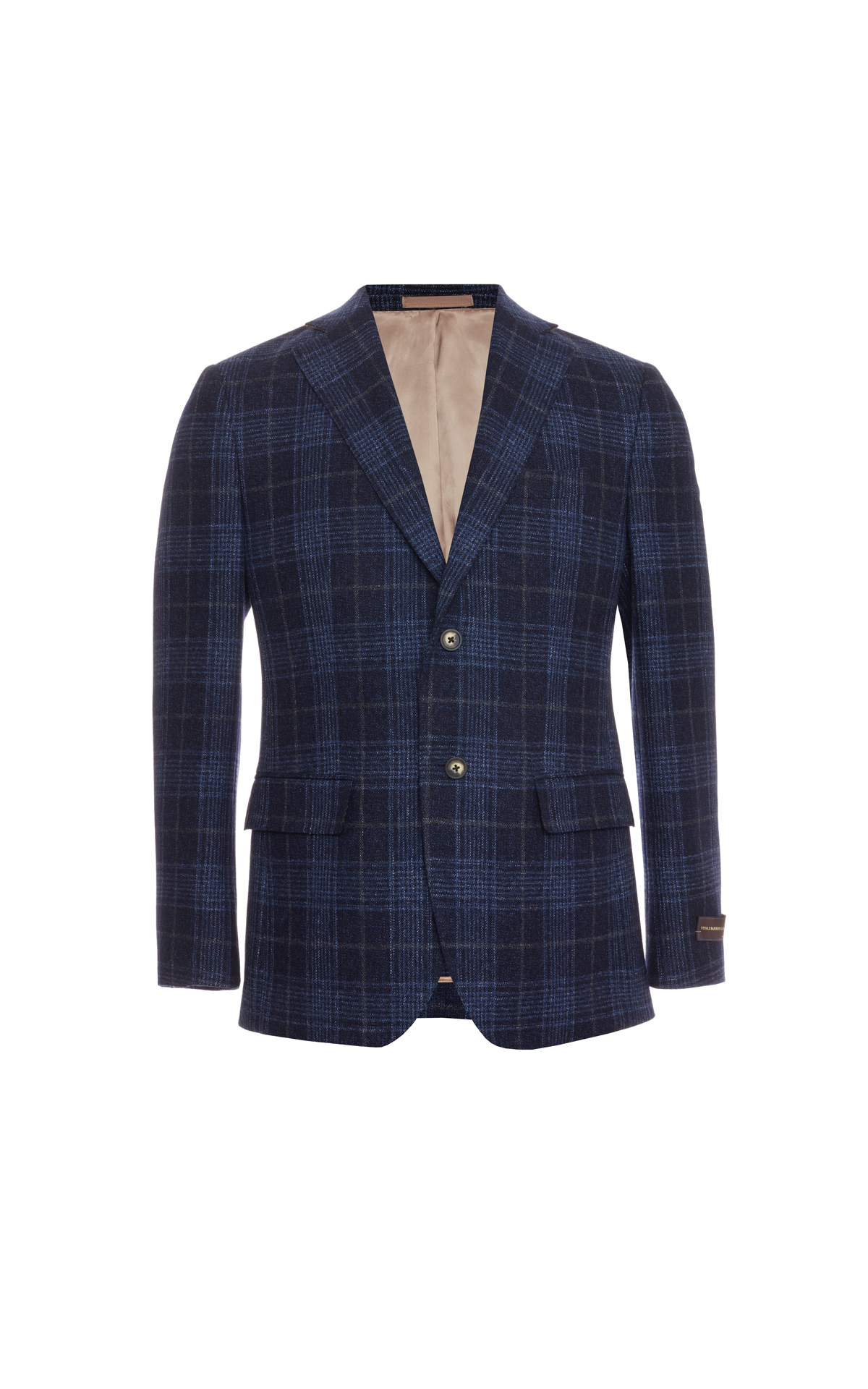 Savoy Taylors Guild Tailored fit blue check jacket from Bicester Village