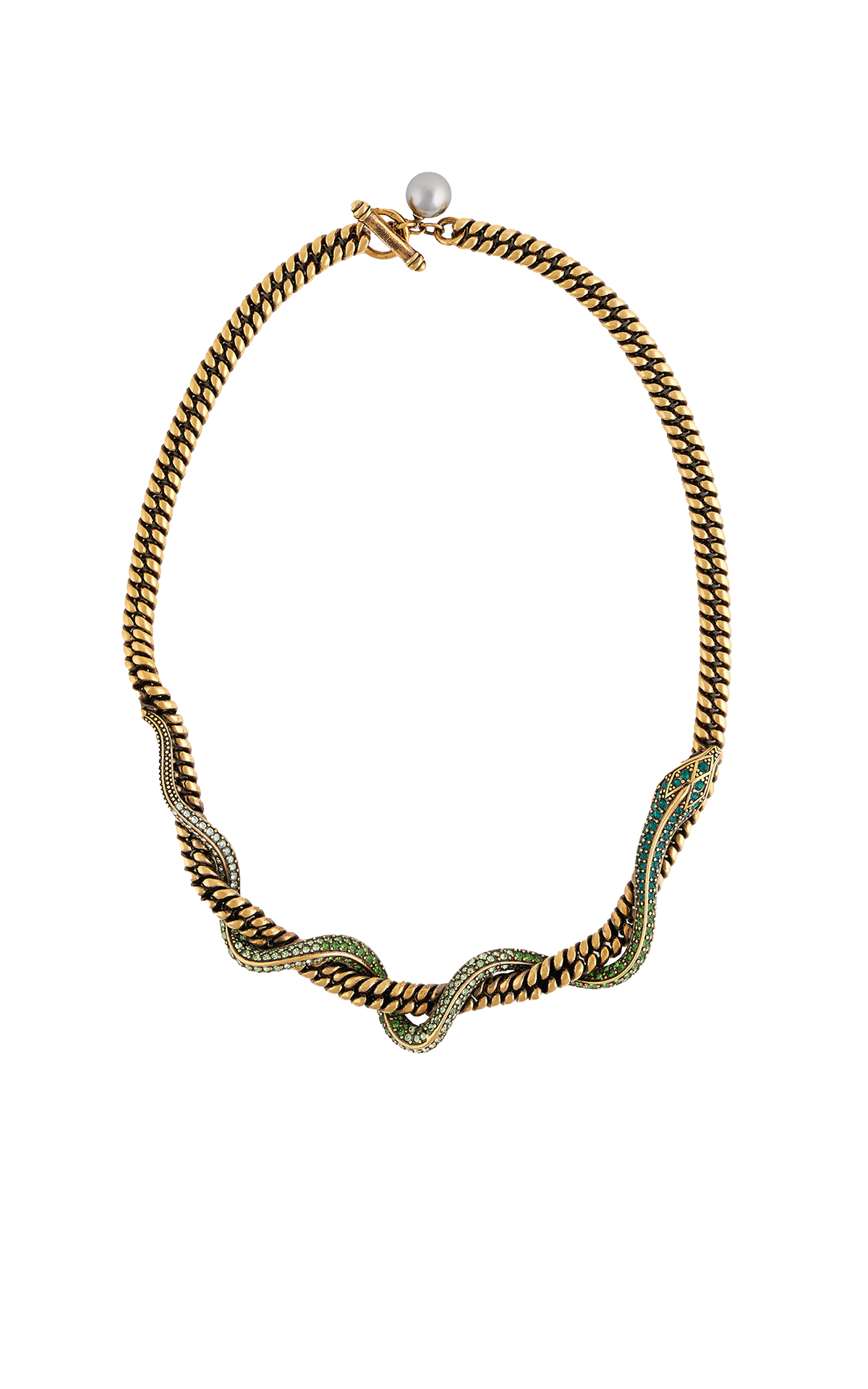 Golden snake necklace Roberto Cavalli