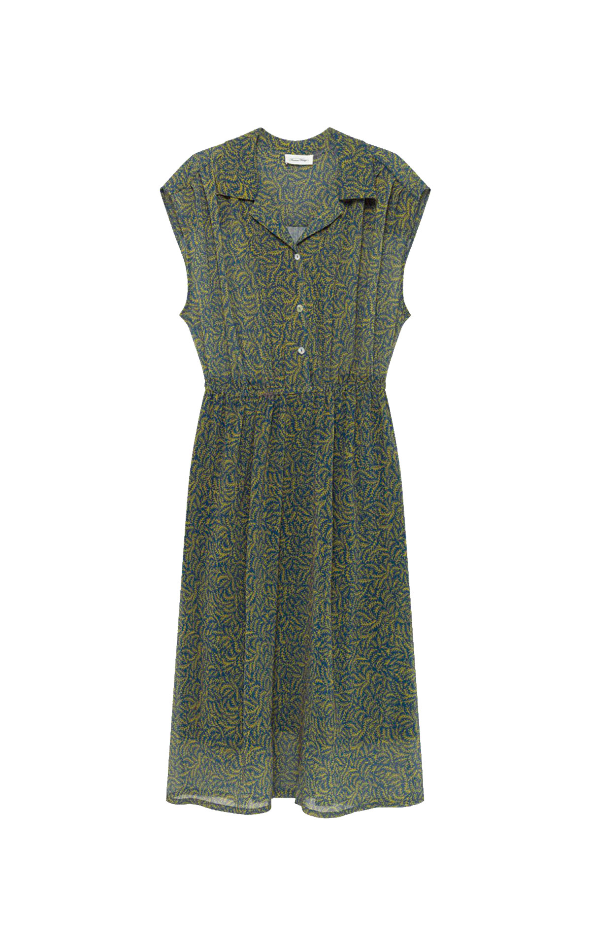 Green printed dress American Vintage