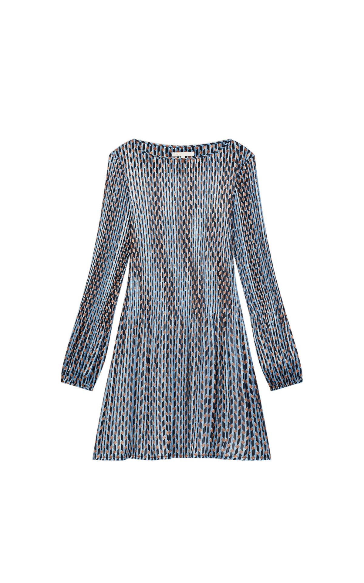 Maje pleated lurex jacquard print dress at The Bicester Village Shopping Collection