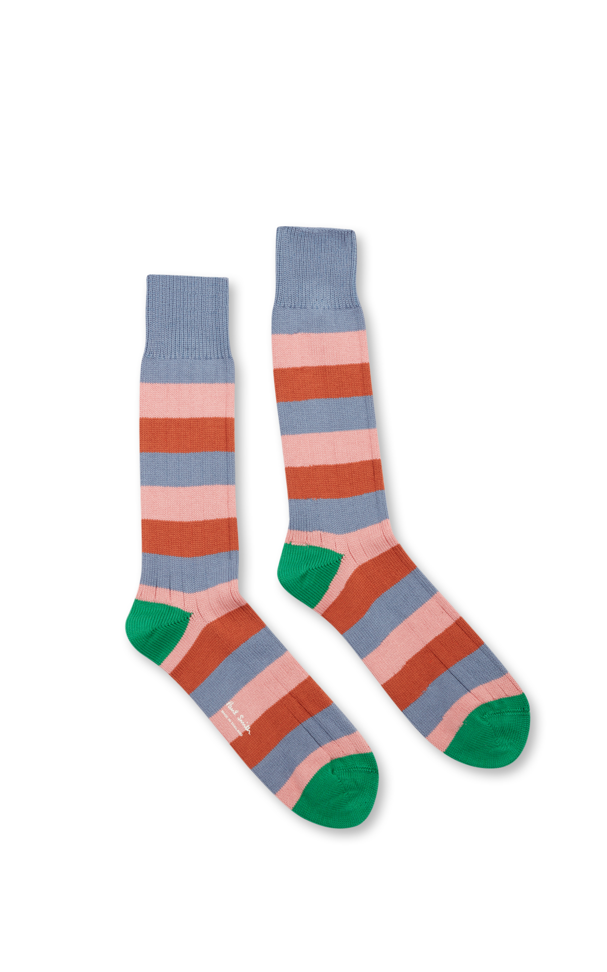 Paul Smith Wool socks with tricolour stripes