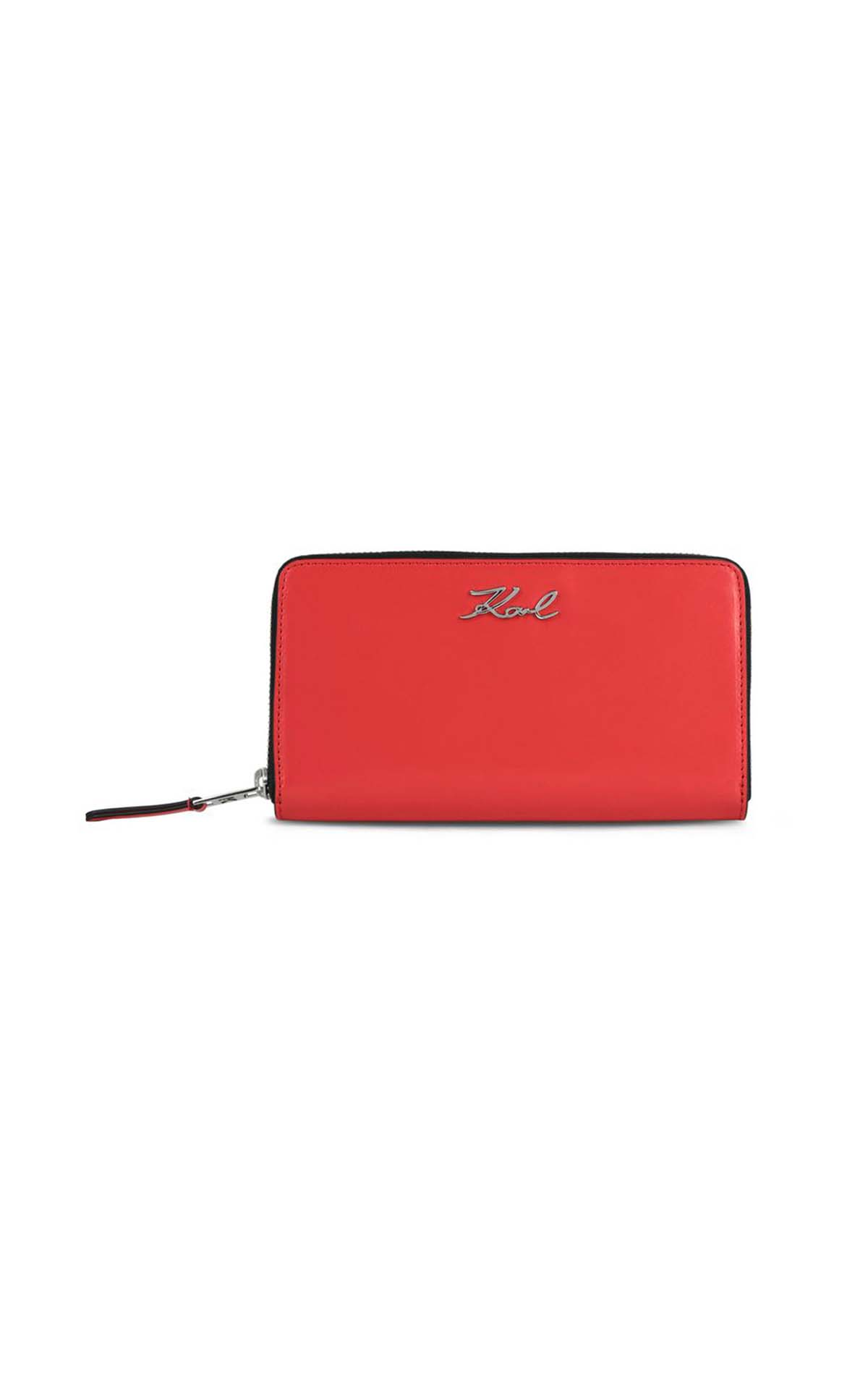Red wallet for woman Karl Lagerfeld