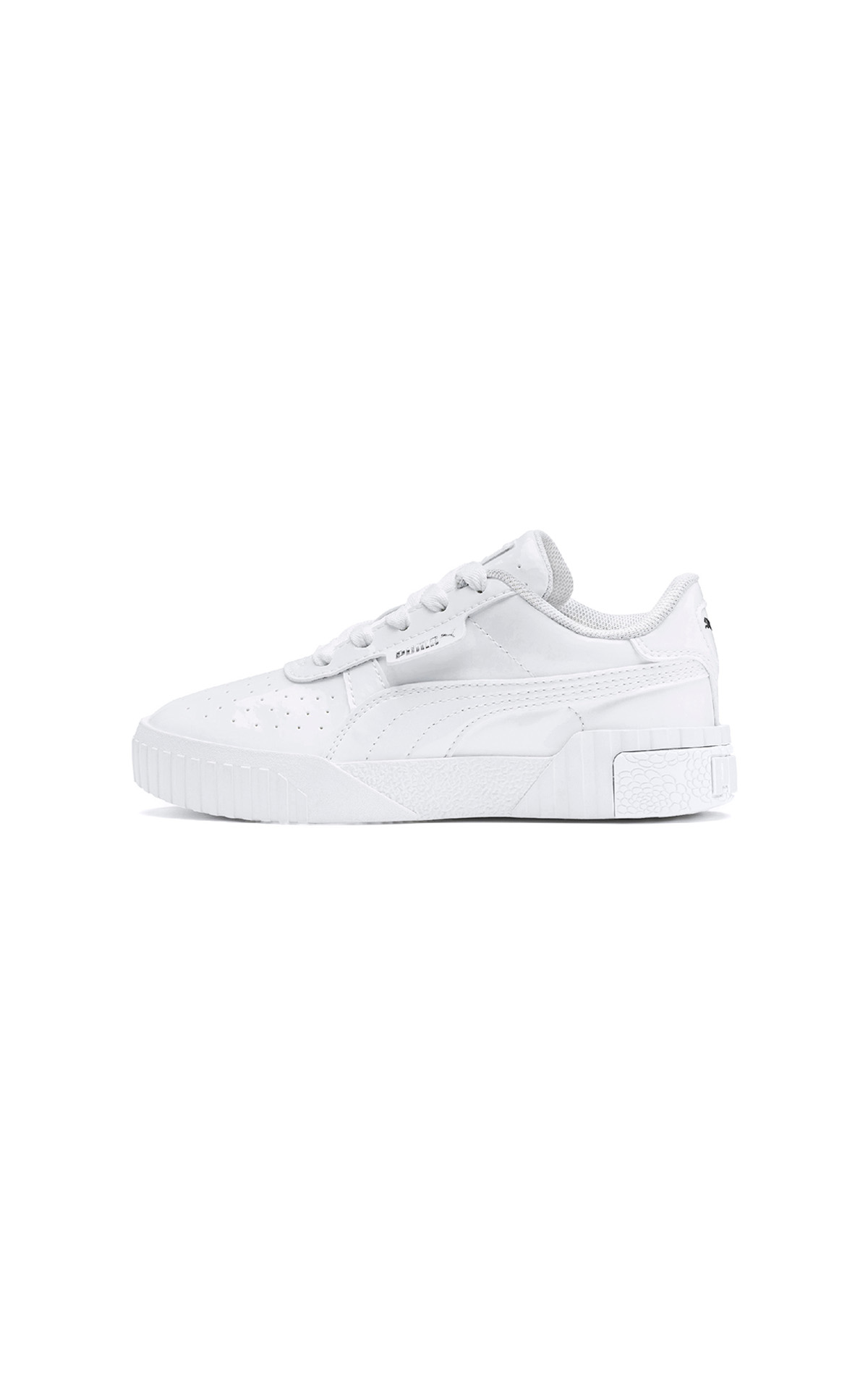 PUMA Cali patent PS in white at The Bicester Village Shopping Collection