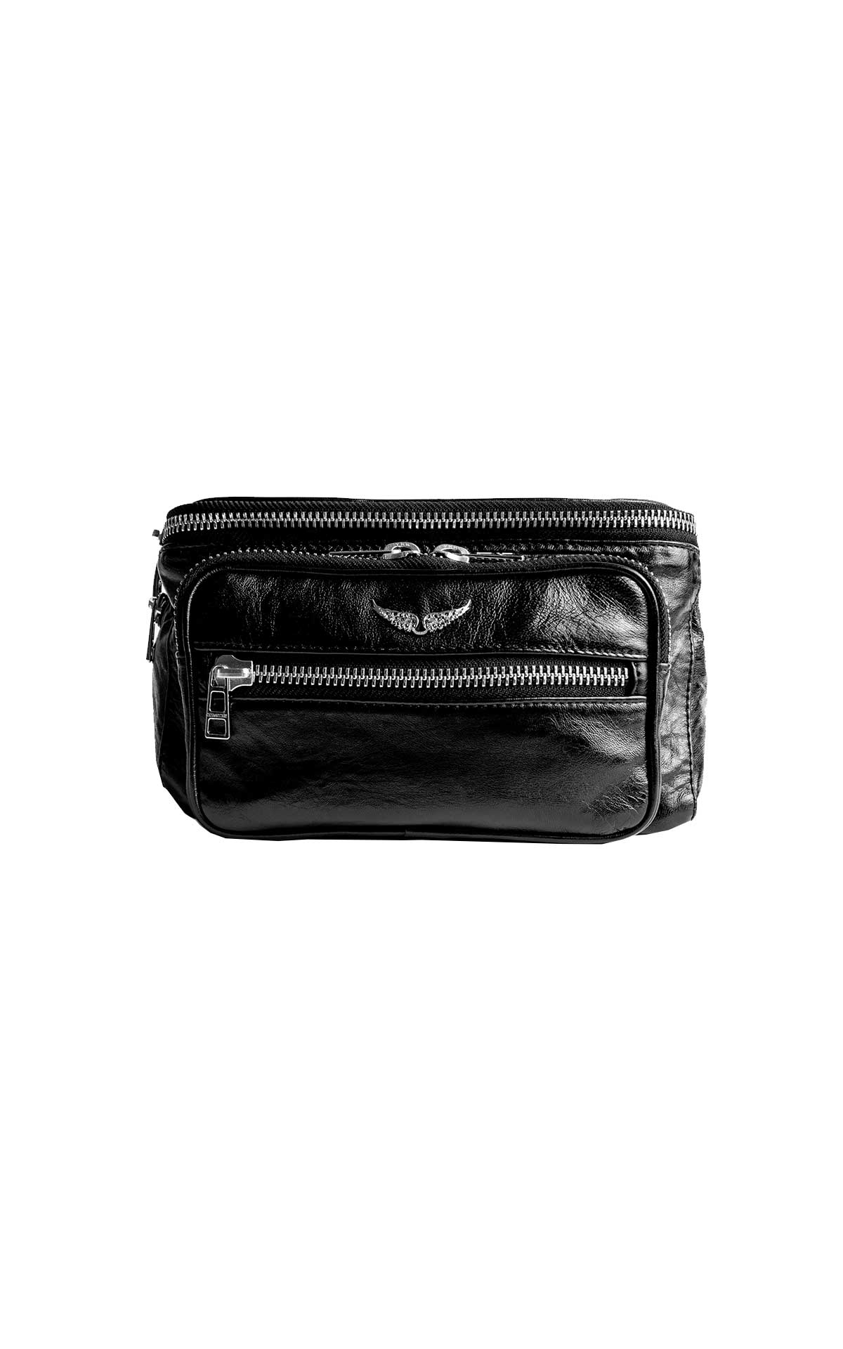 Black leather bum bag Zadig&Voltaire