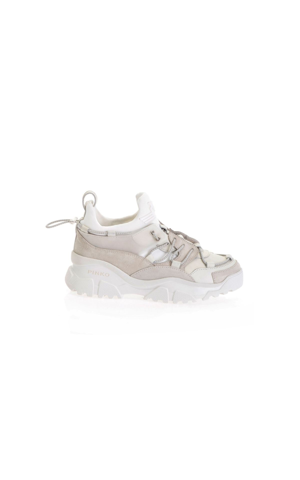 La Vallée Village Pinko Leather sneakers with suede inserts