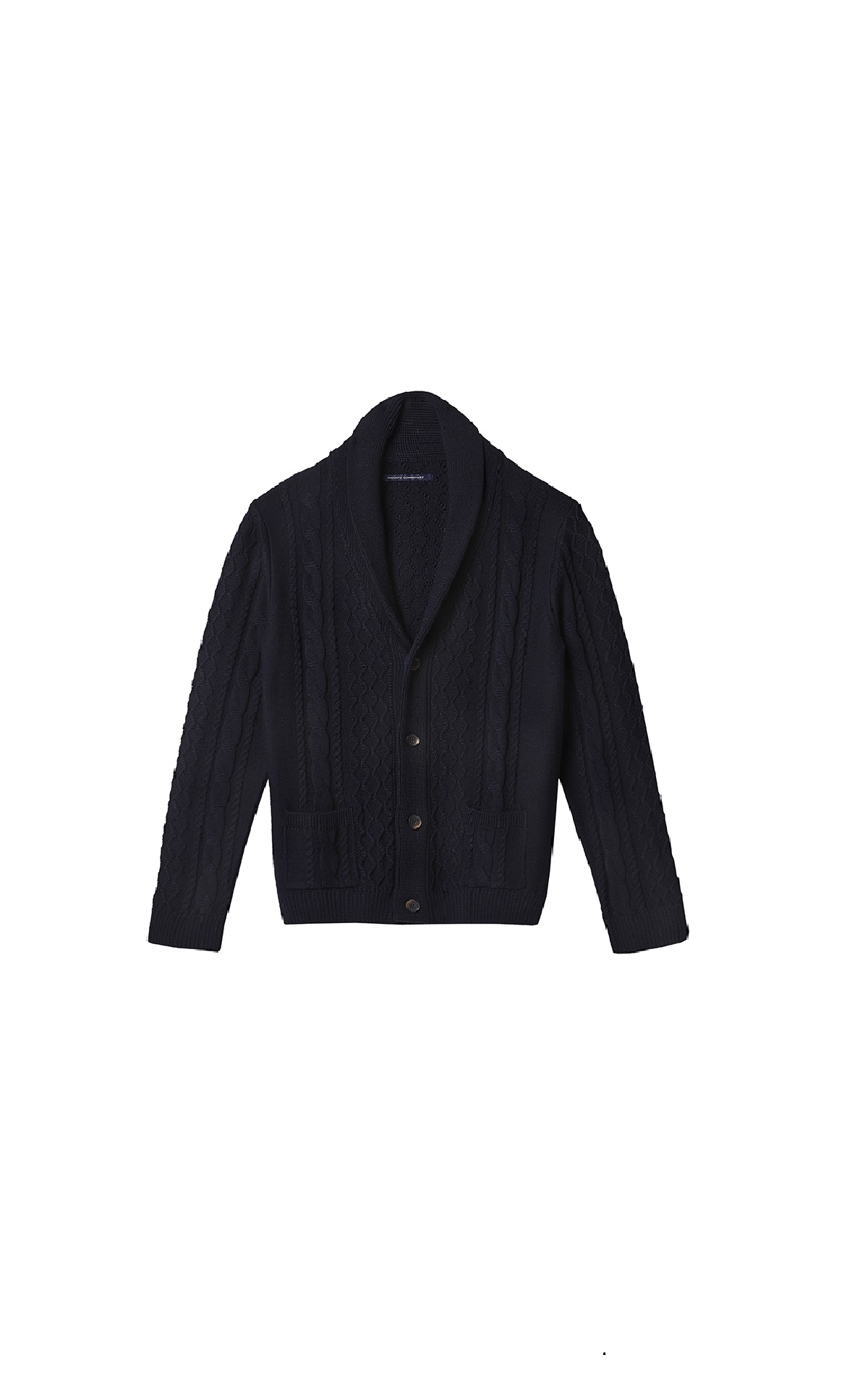 Navy blue sweater with buttons Adolfo Dominguez