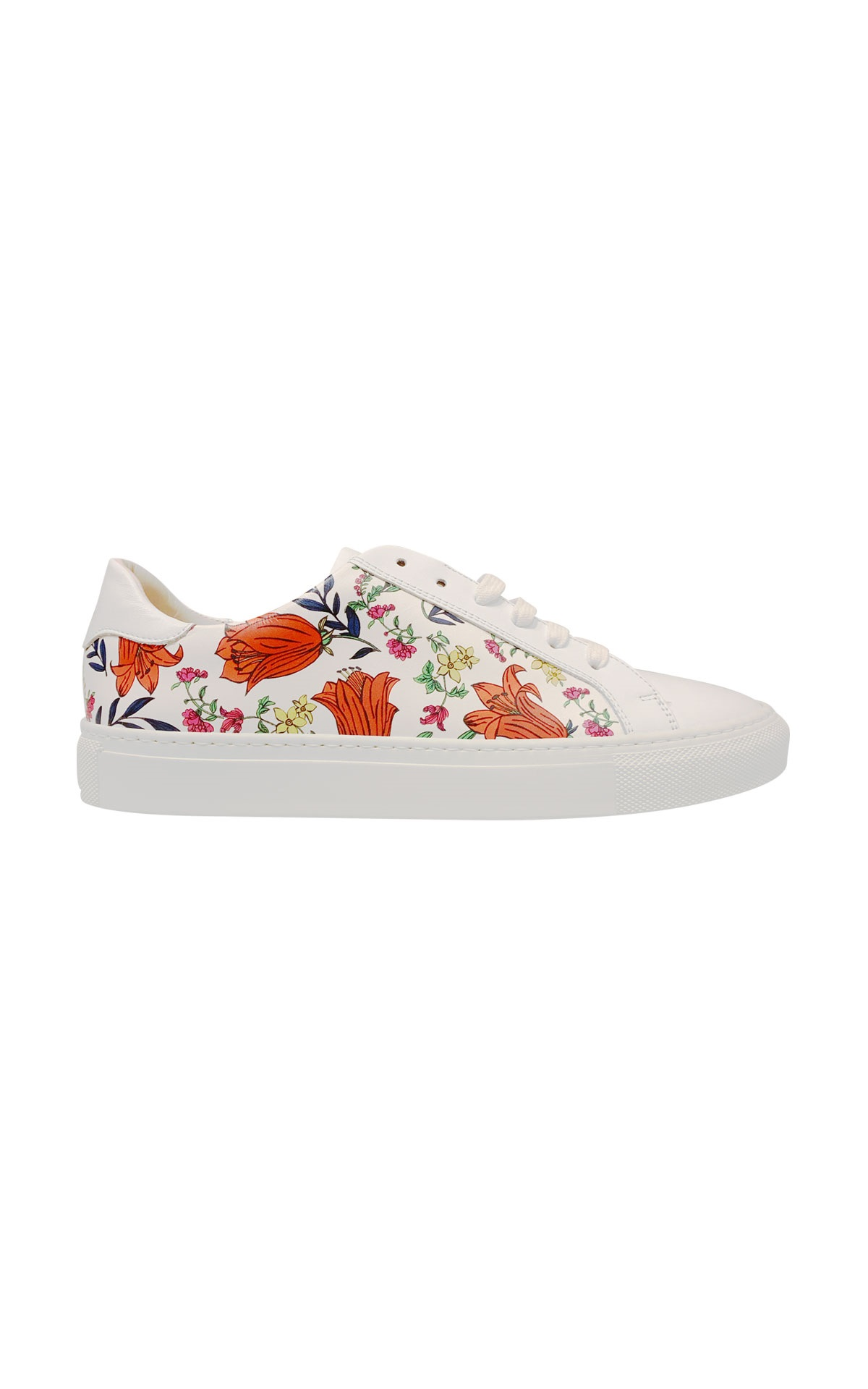 White sneakers with flowers Escada