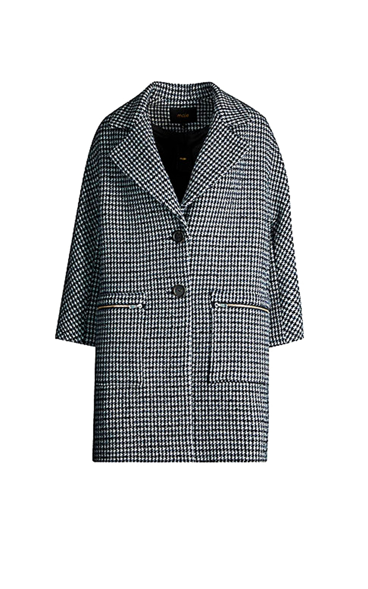 Black and white houndstooth coat Maje