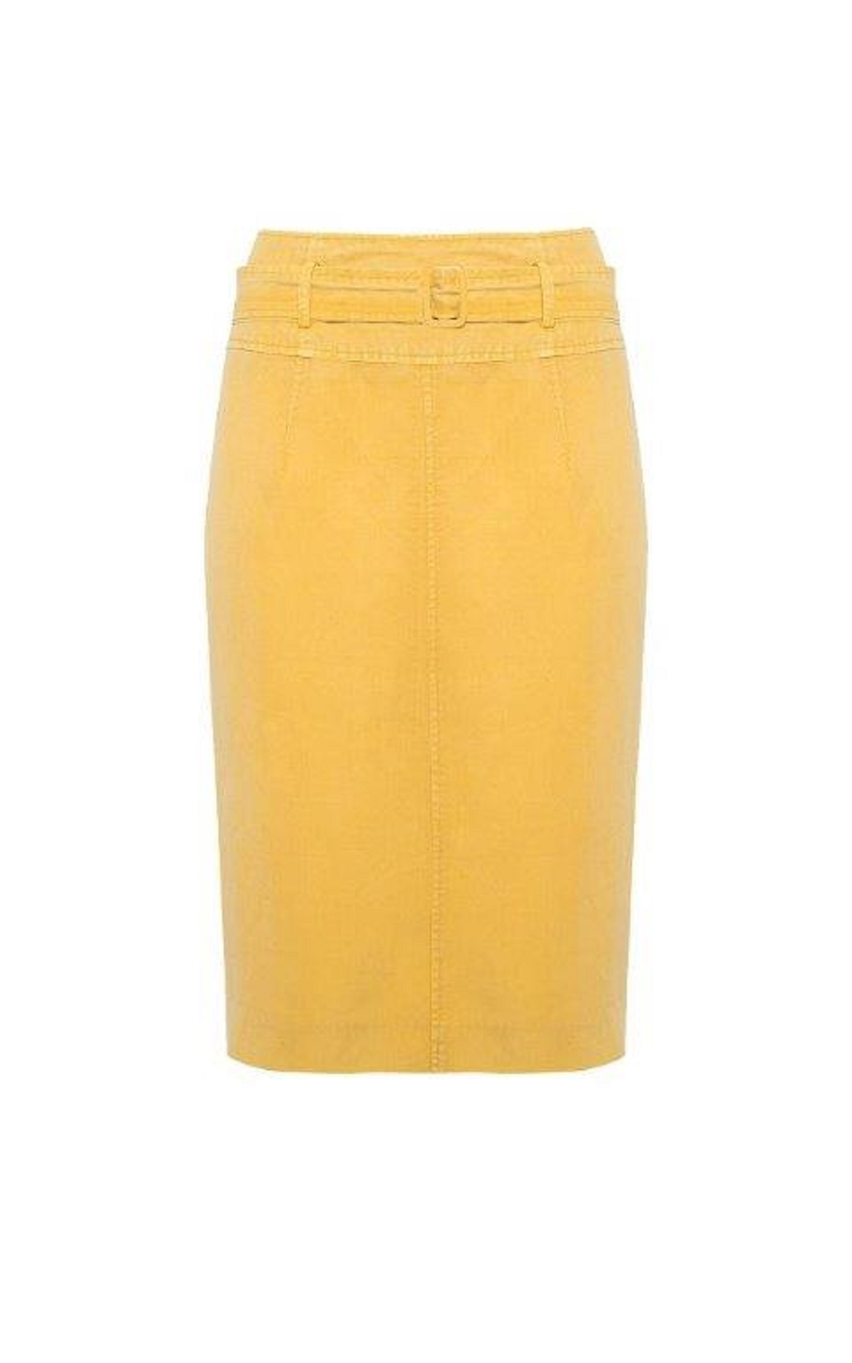 Yellow linen skirt Roberto Verino