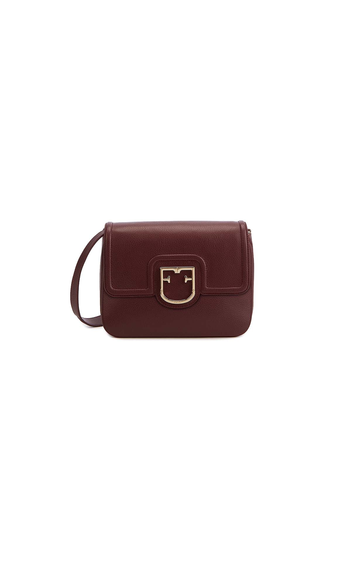 Furla Joy small crossover bag in burgundy at The Bicester Village Shopping Collection