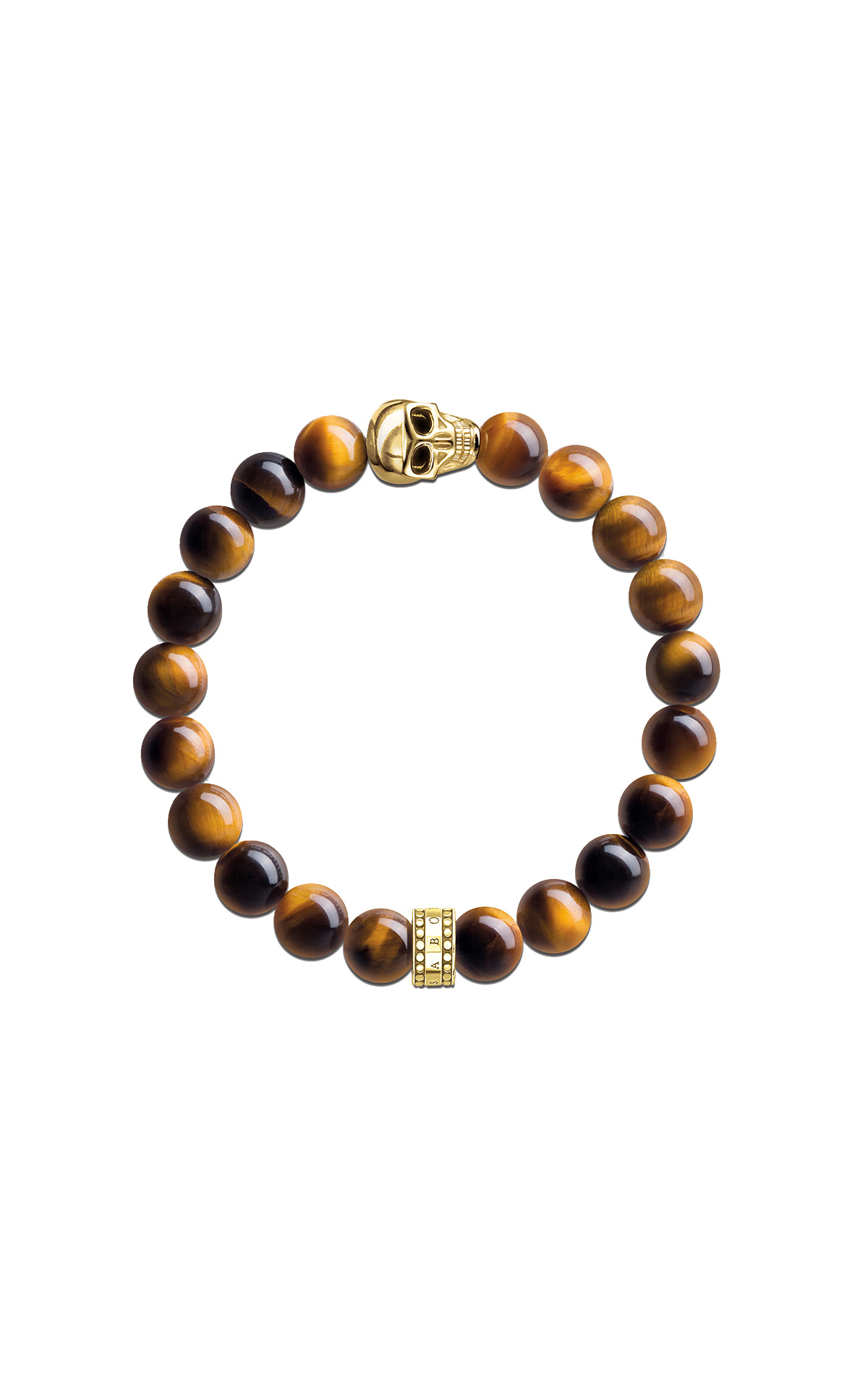 Brown bracelet with skull Thomas Sabo