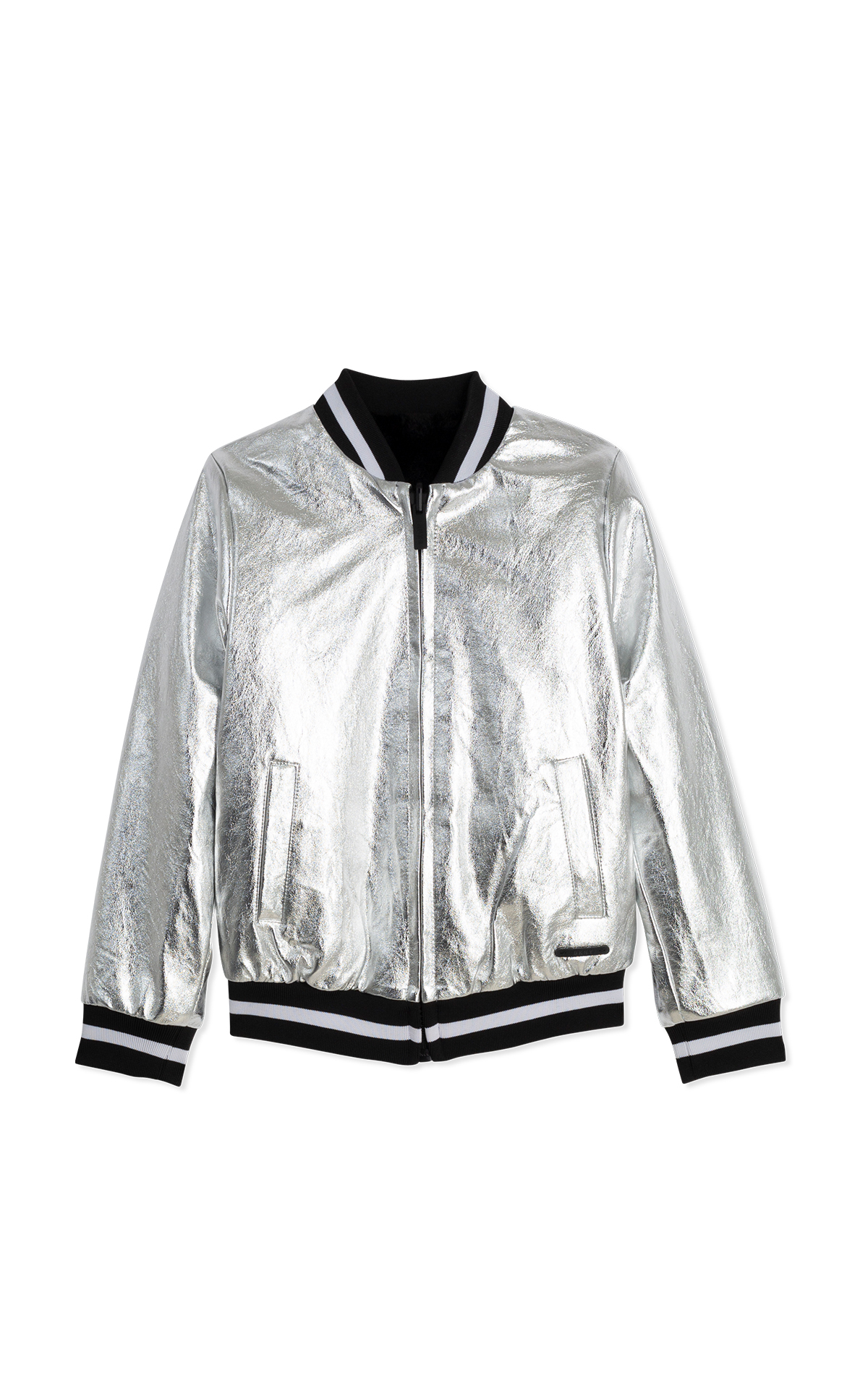 DKNY Kids Silver jacket La Vallée Village