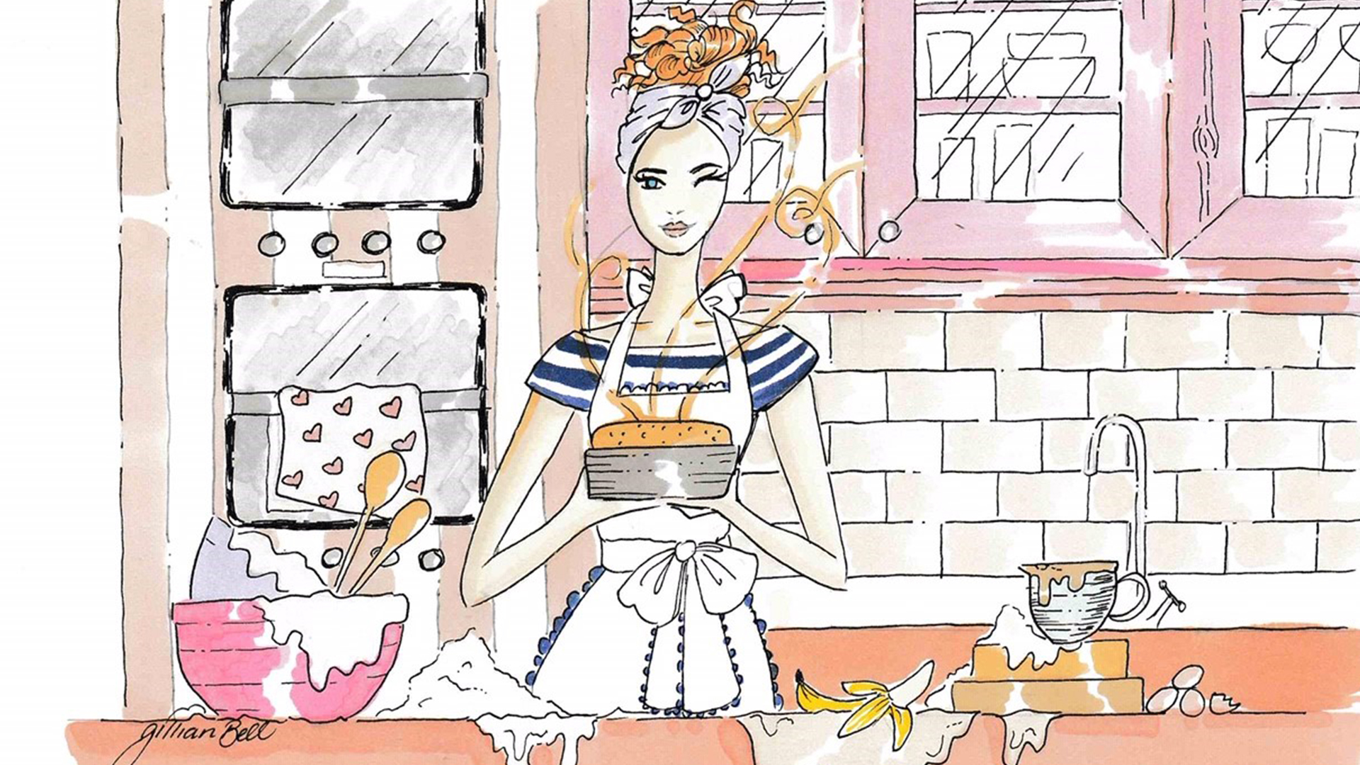 Artist Gillian Bell Illustrations for Kildare Village