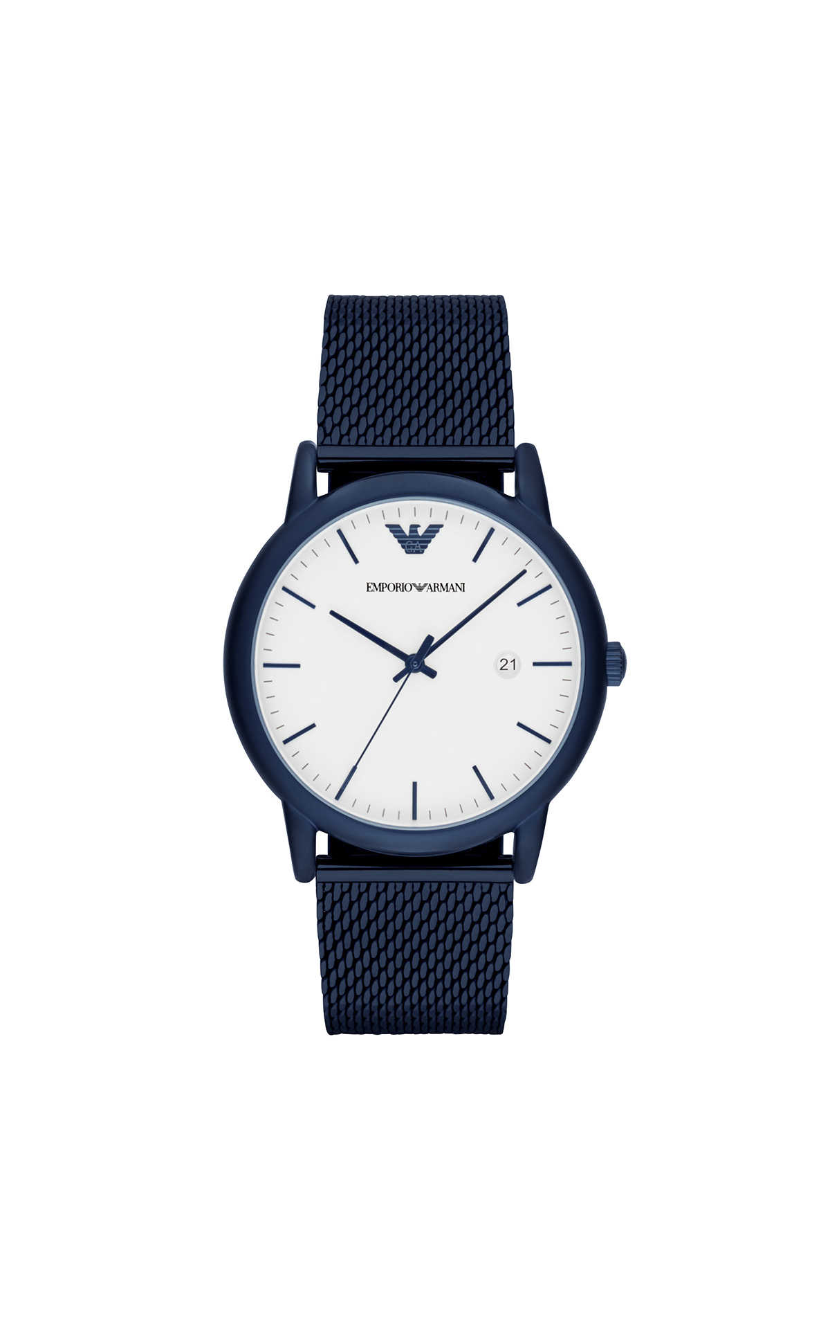 Navy blue watch for man Armani