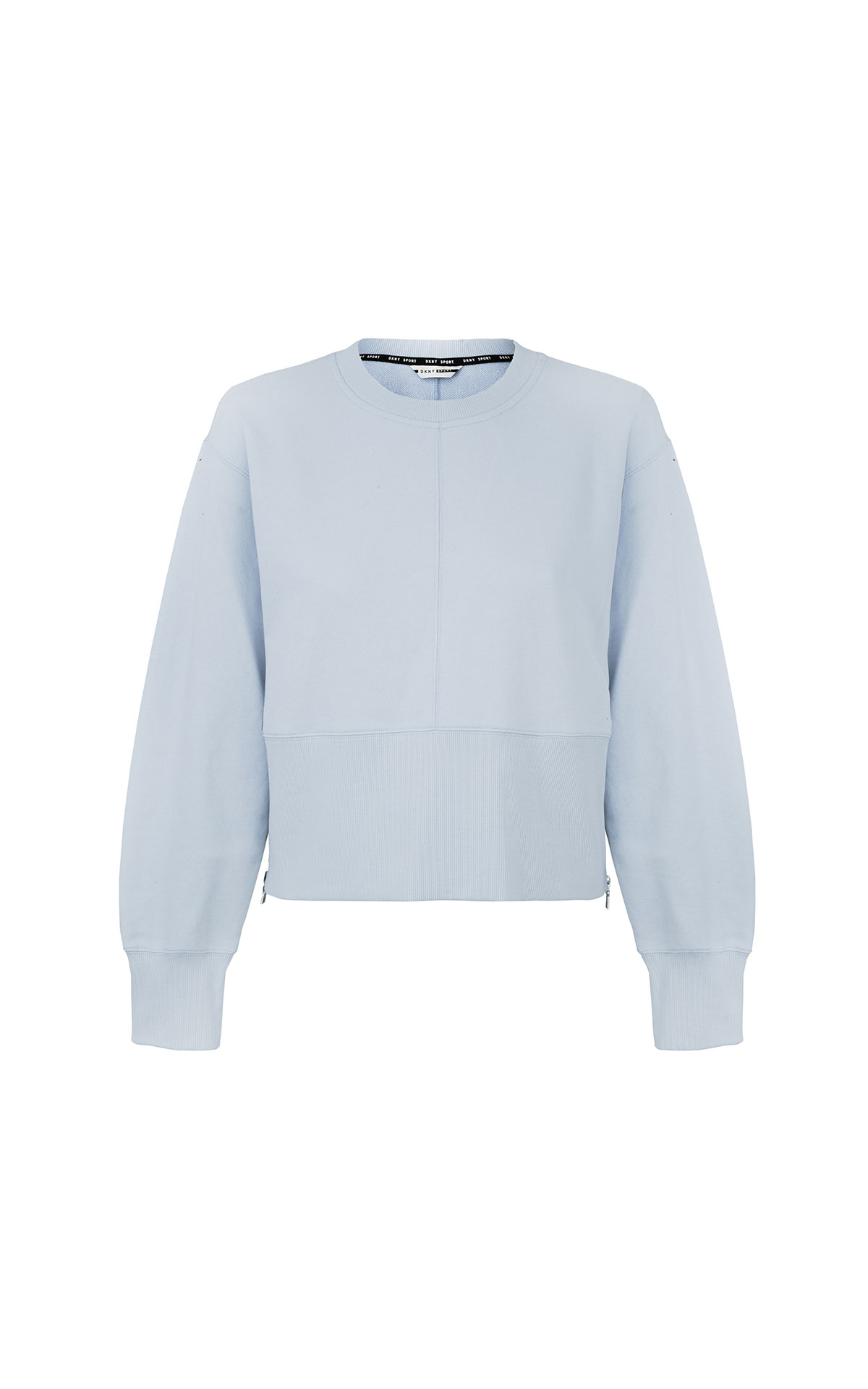 DKNY Cropped Crewneck Pullover with side zipper from Bicester Village