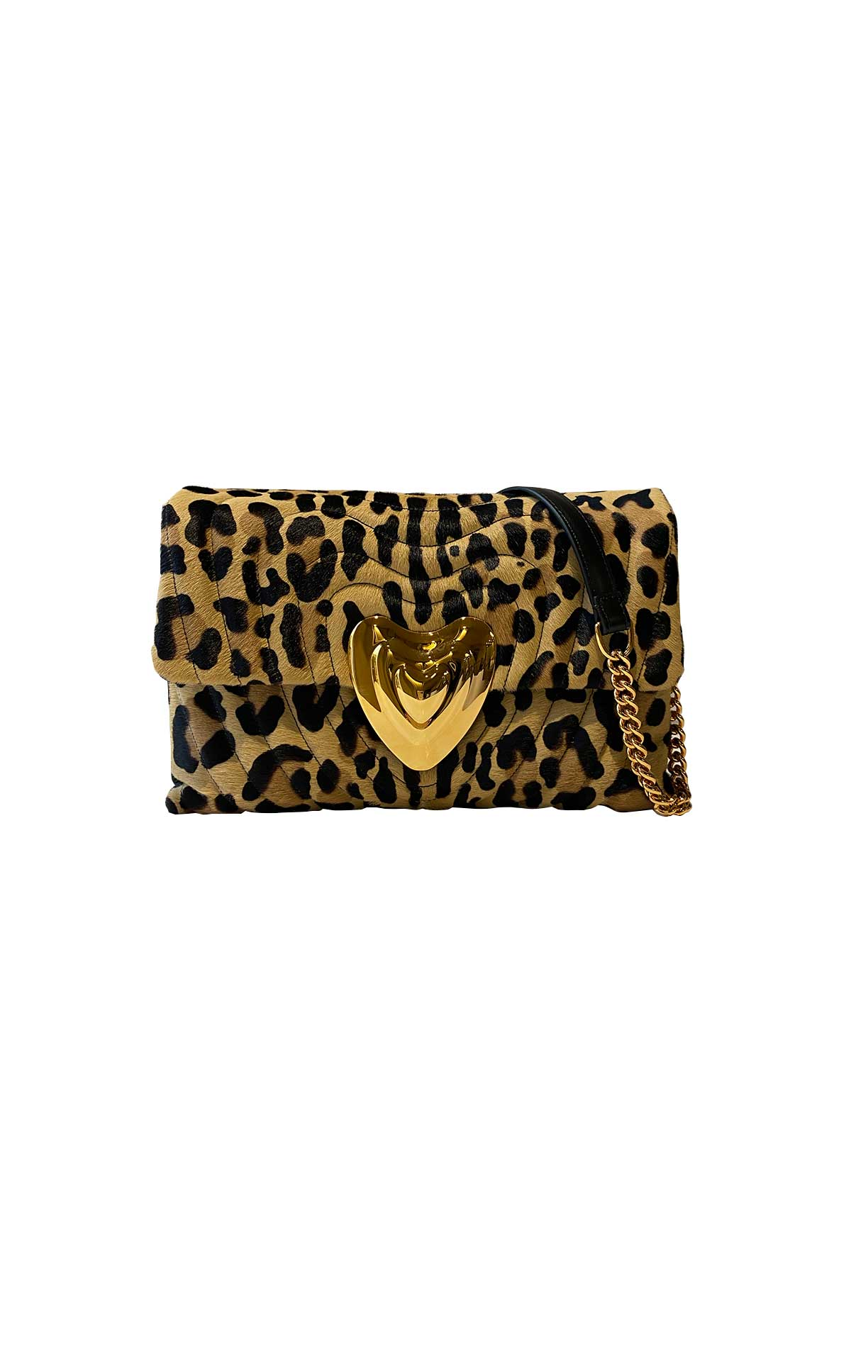 Heart leopard bag Escada