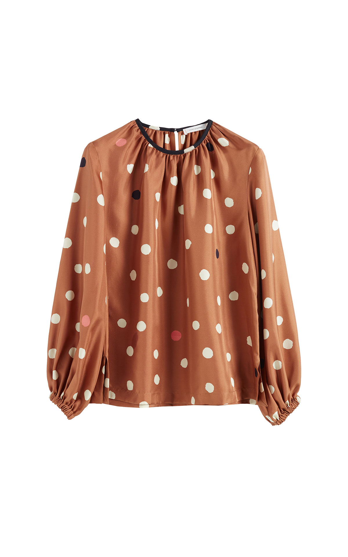 Chinti & Parker Brown painted spot top from Bicester Village