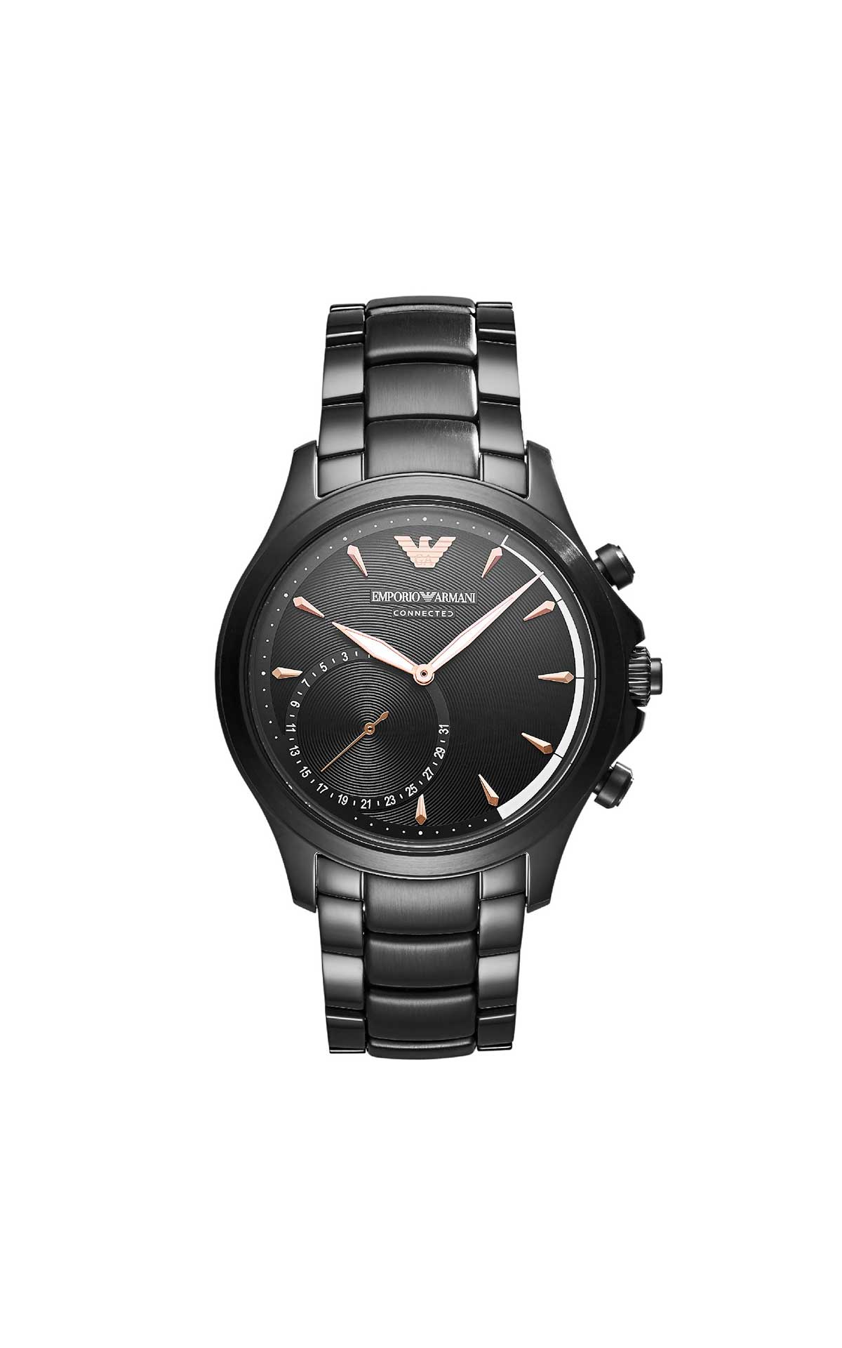 Black metallic watch Armani