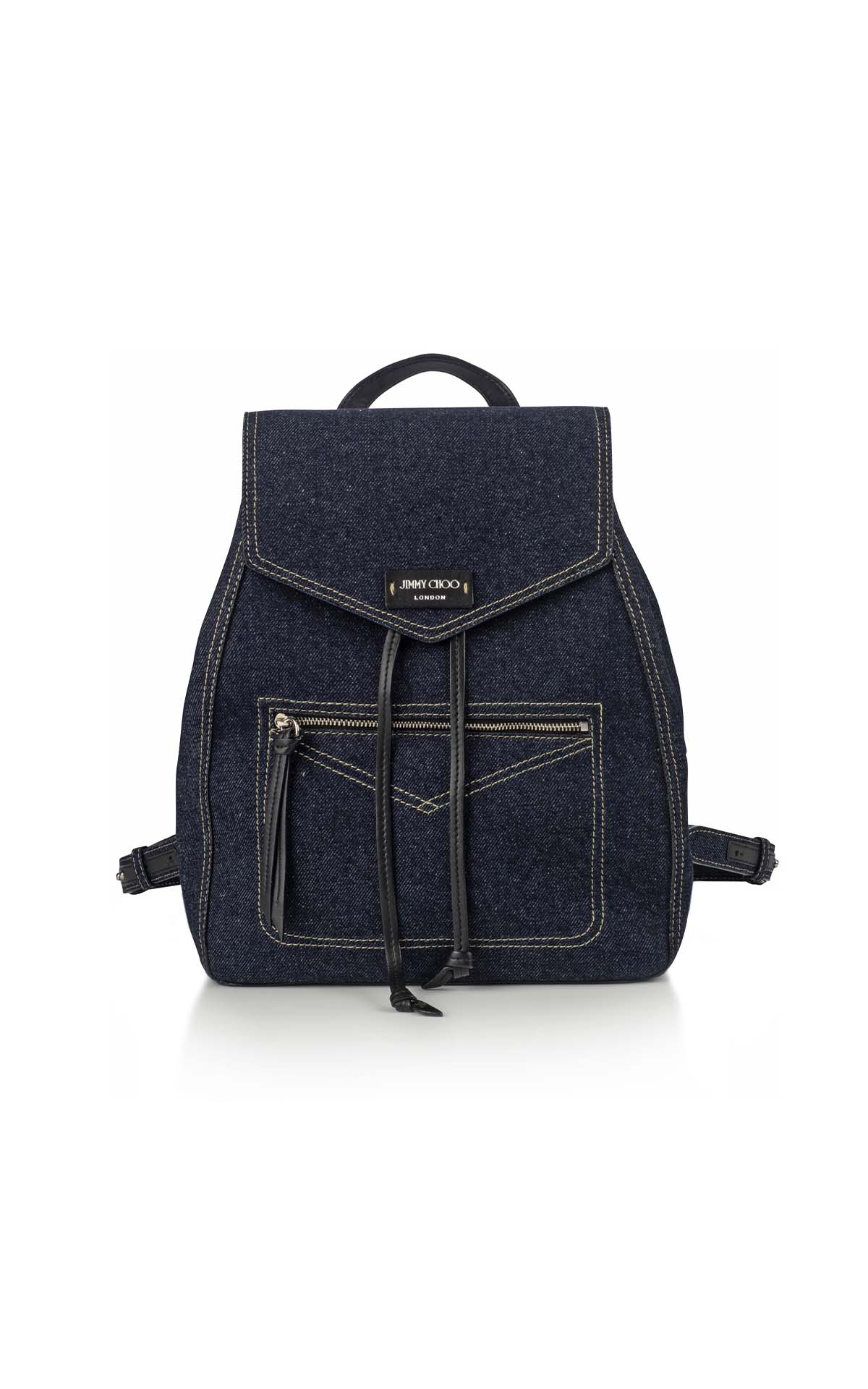 Jimmy Choo Tafira Denim Backpack at The Bicester Village Shopping Collection