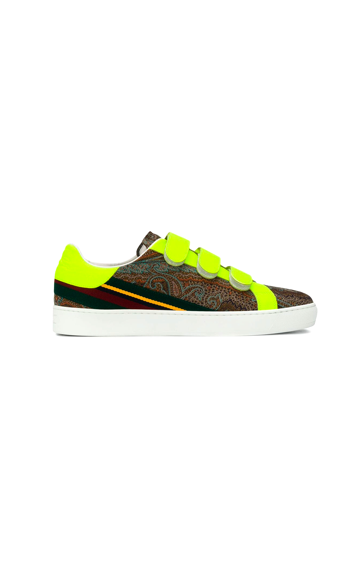 Yellow and patterned sneaker Etro