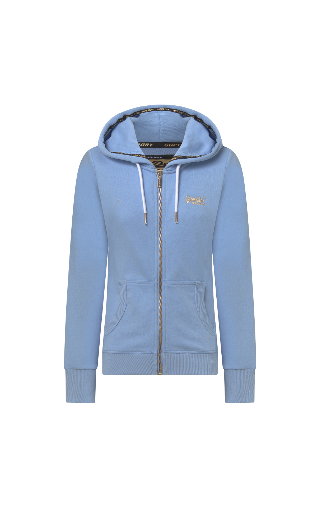 Light blue sweatshirt woman Superdry