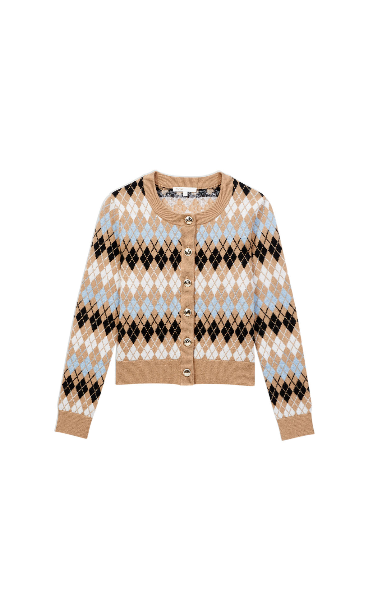 Maje short jacquard cardigan at the Bicester Village Shopping Collection