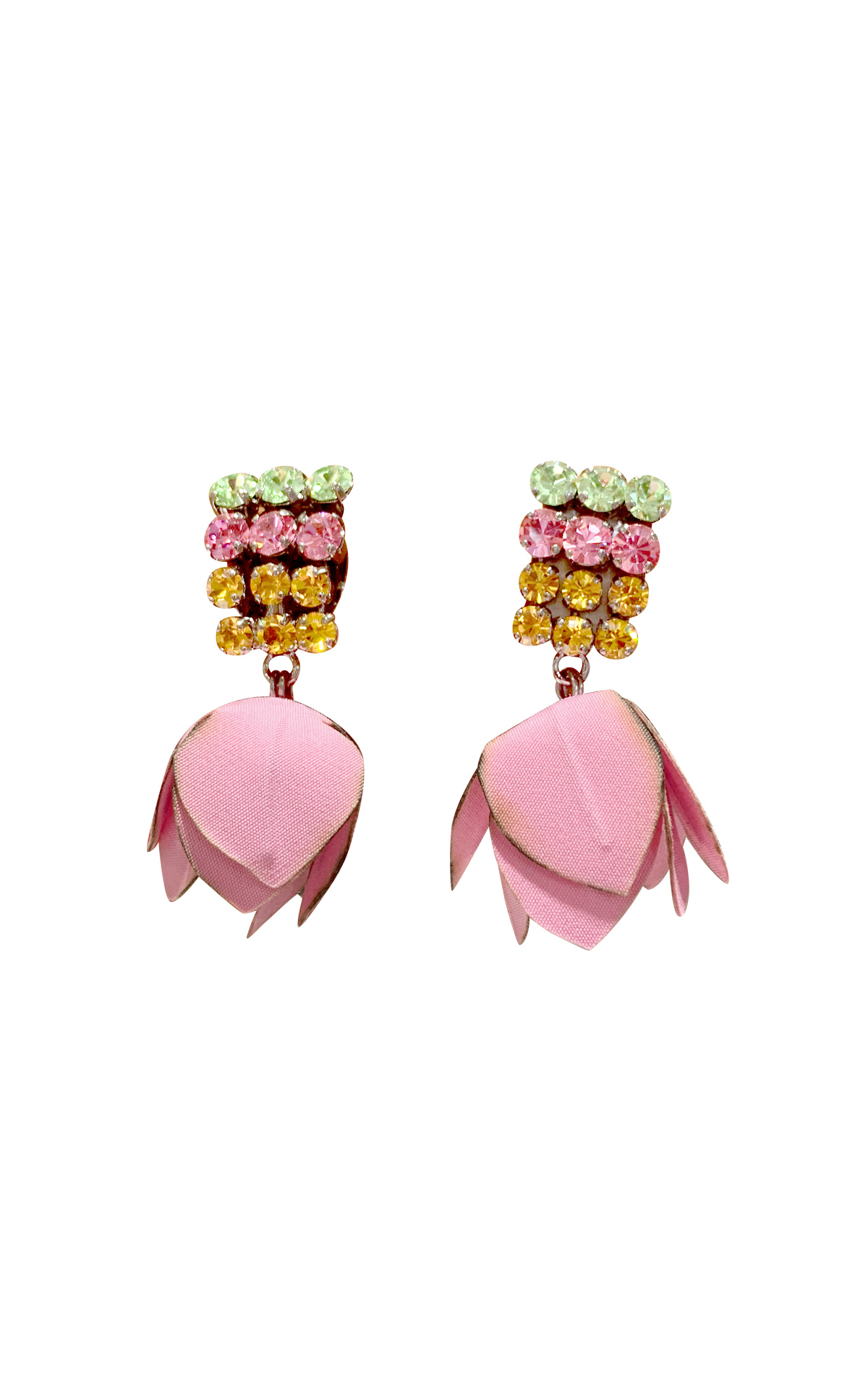 Pink earrings with a flower Marni