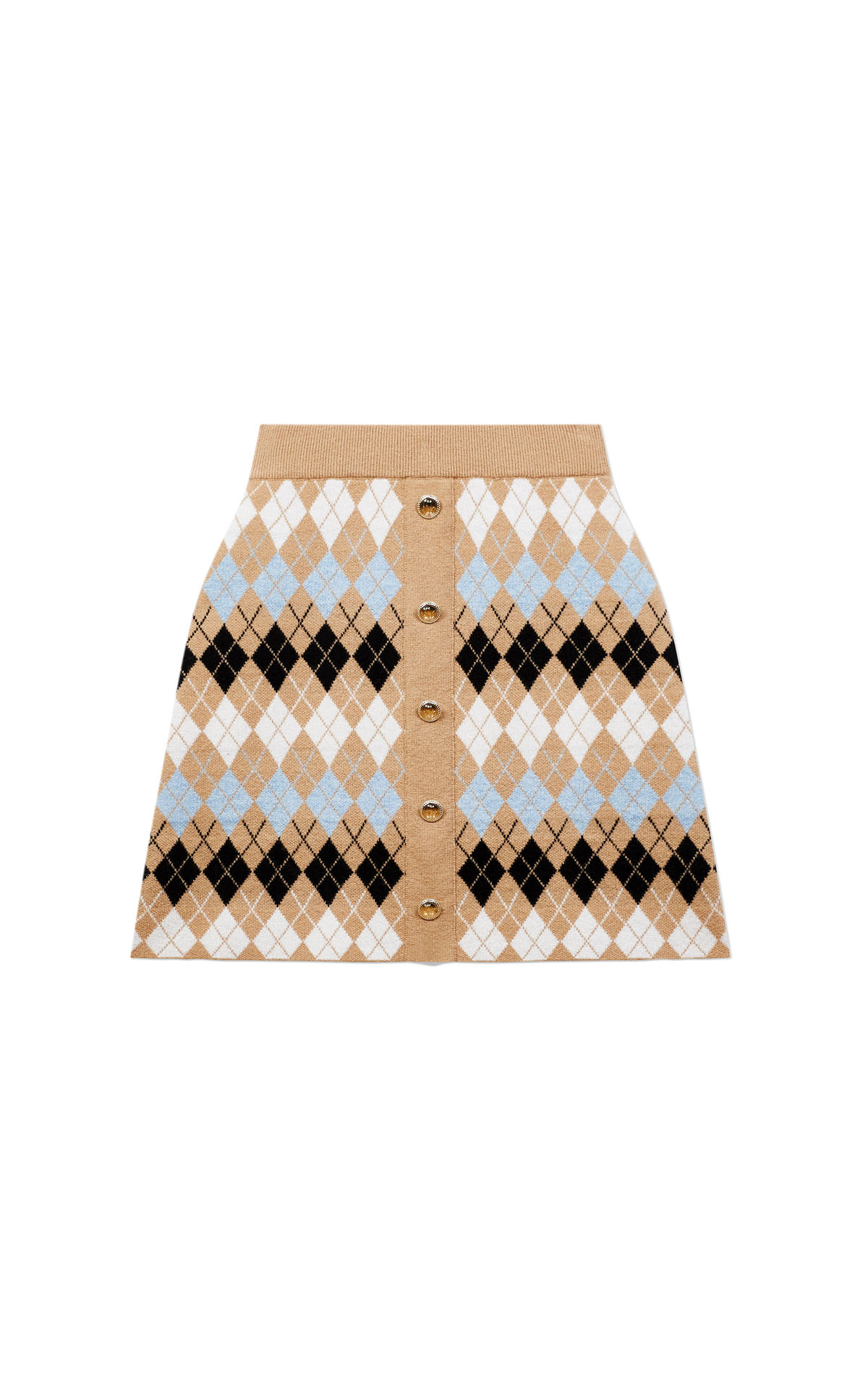 Maje buttoned jacquard skirt at the Bicester Village Shopping Collection